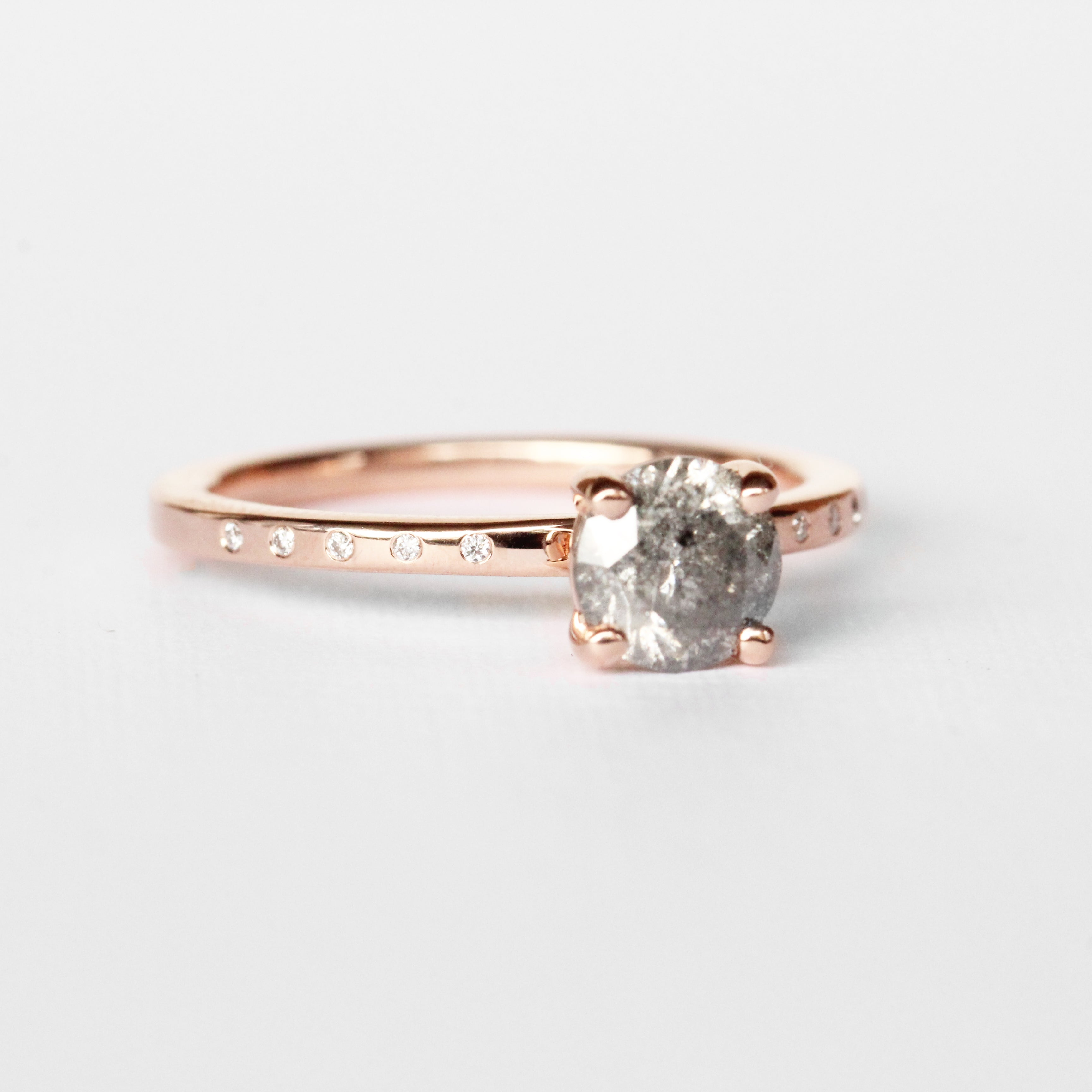 Heath Ring with an .85 ct Celestial Diamond in 14k Rose Gold - Ready to Size and Ship - Celestial Diamonds ® by Midwinter Co.