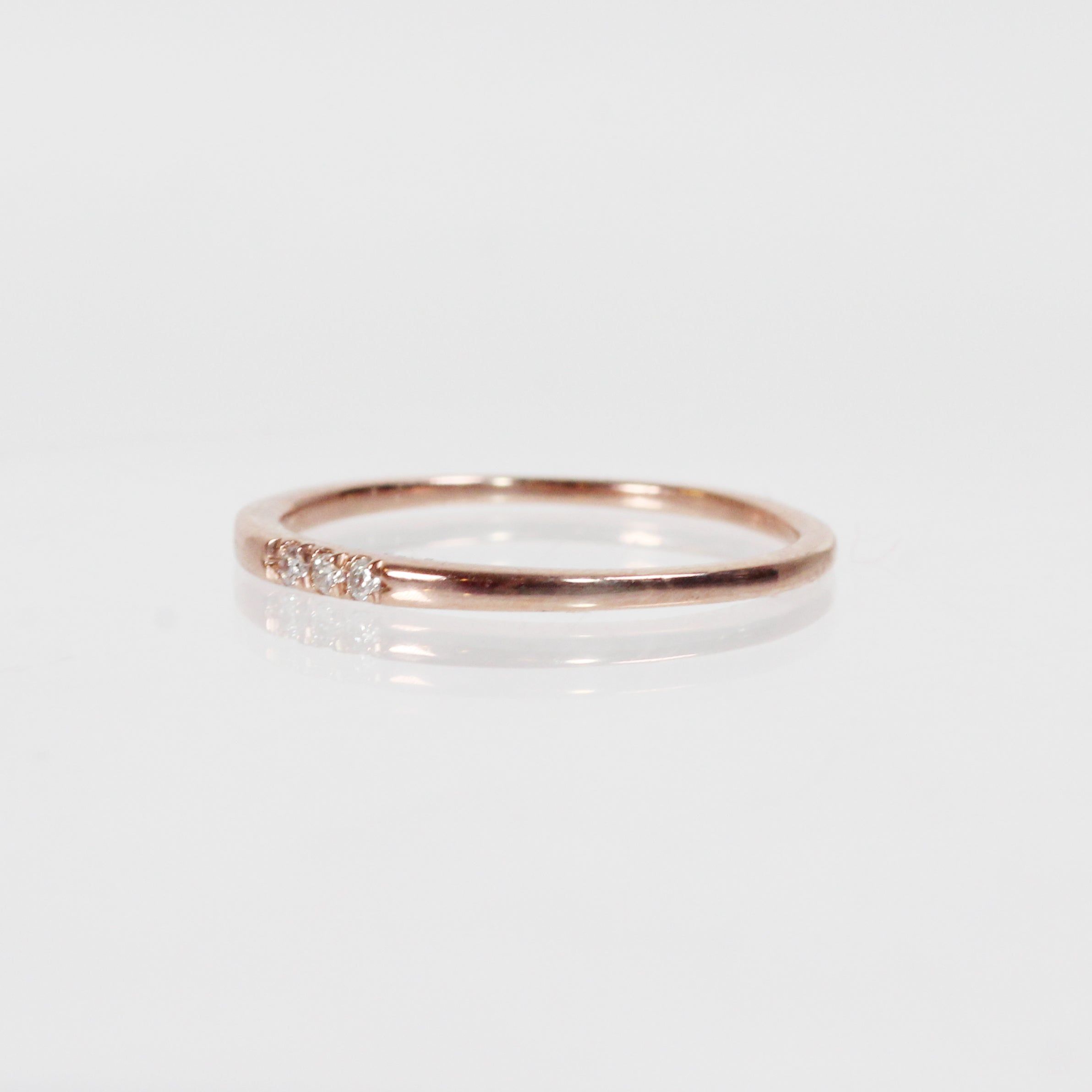 Izzie Minimal Ring - Diamond Band Stackable Ring in Gold - Celestial Diamonds ® by Midwinter Co.