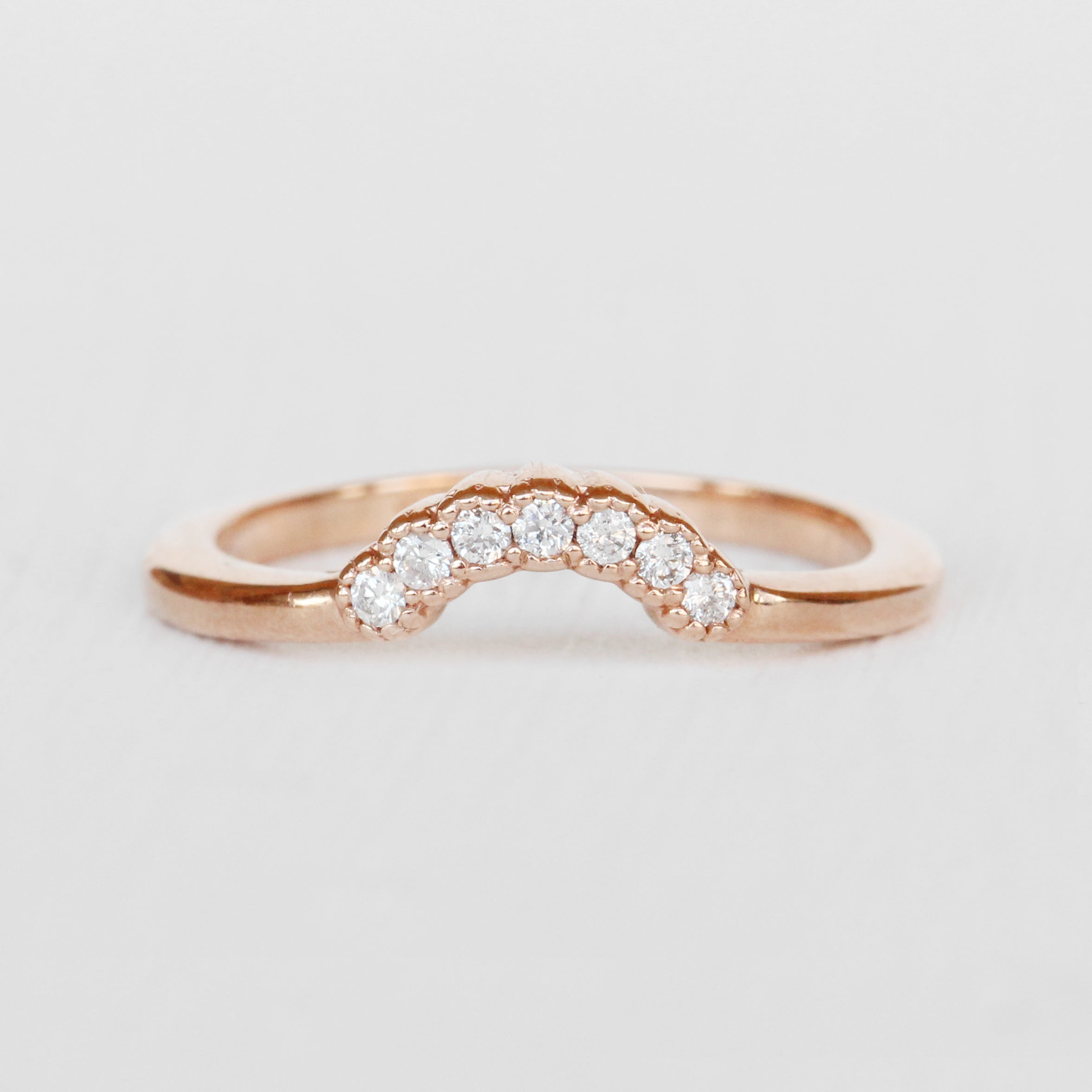 Joy - Contoured Diamond Wedding Stacking Band - made to order - Celestial Diamonds ® by Midwinter Co.