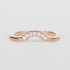 Joy - Contoured Diamond Wedding Stacking Band - made to order