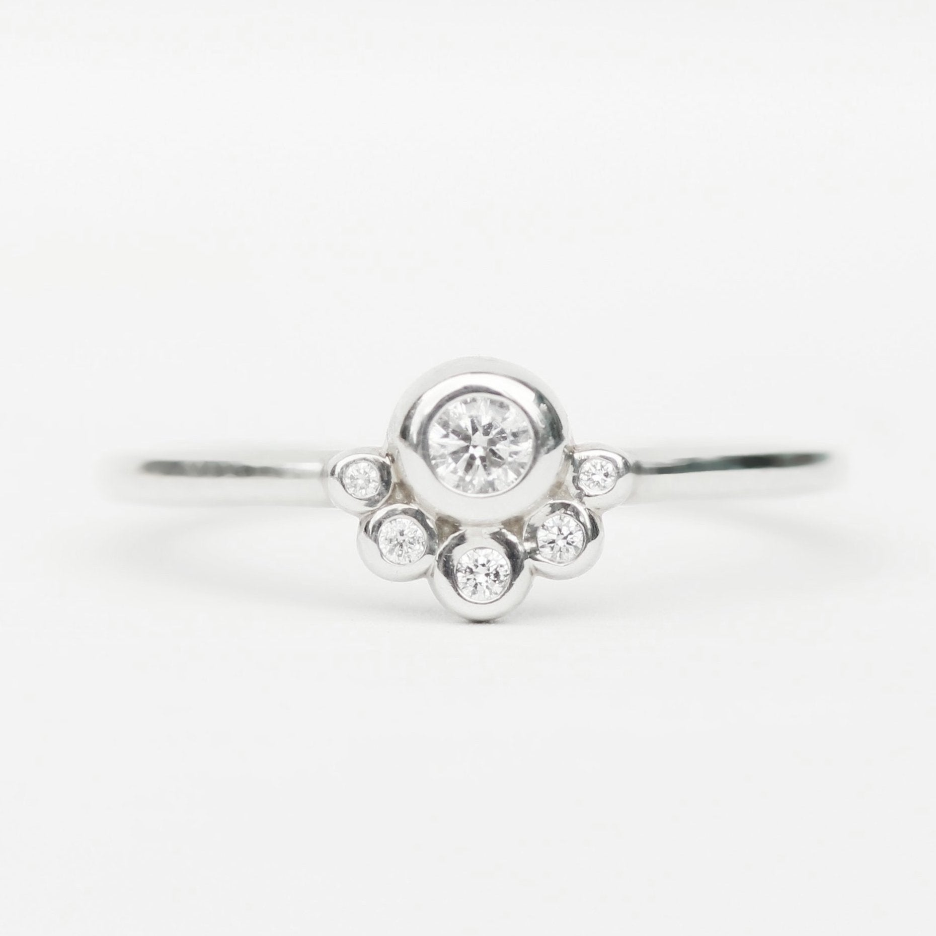 Jules ring with white diamonds in 10k white gold - ready to size and ship - Salt & Pepper Celestial Diamond Engagement Rings and Wedding Bands  by Midwinter Co.