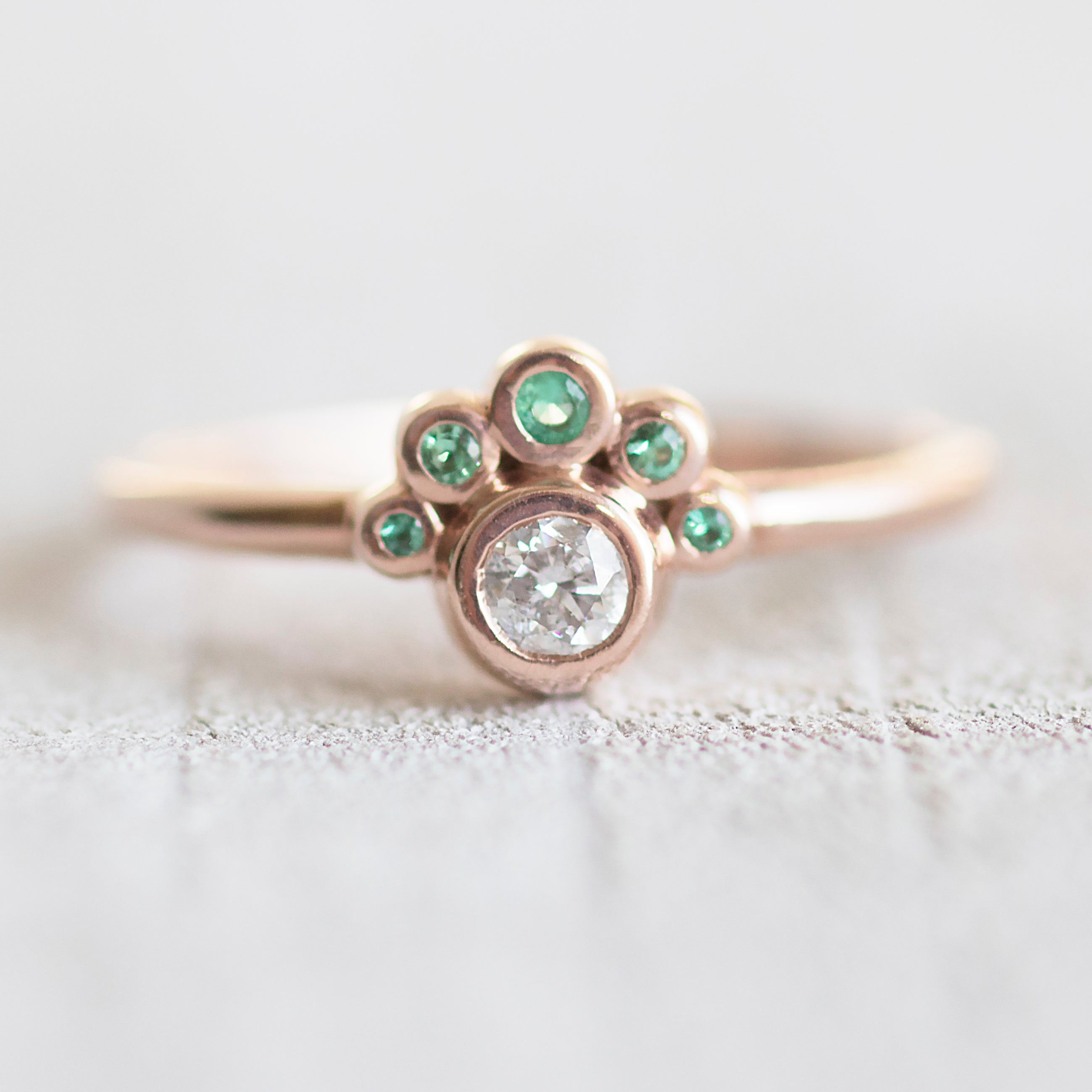 diamond engagement rose oval ring rings product asymmetrical gold samanthaenglandjewellery original by samantha