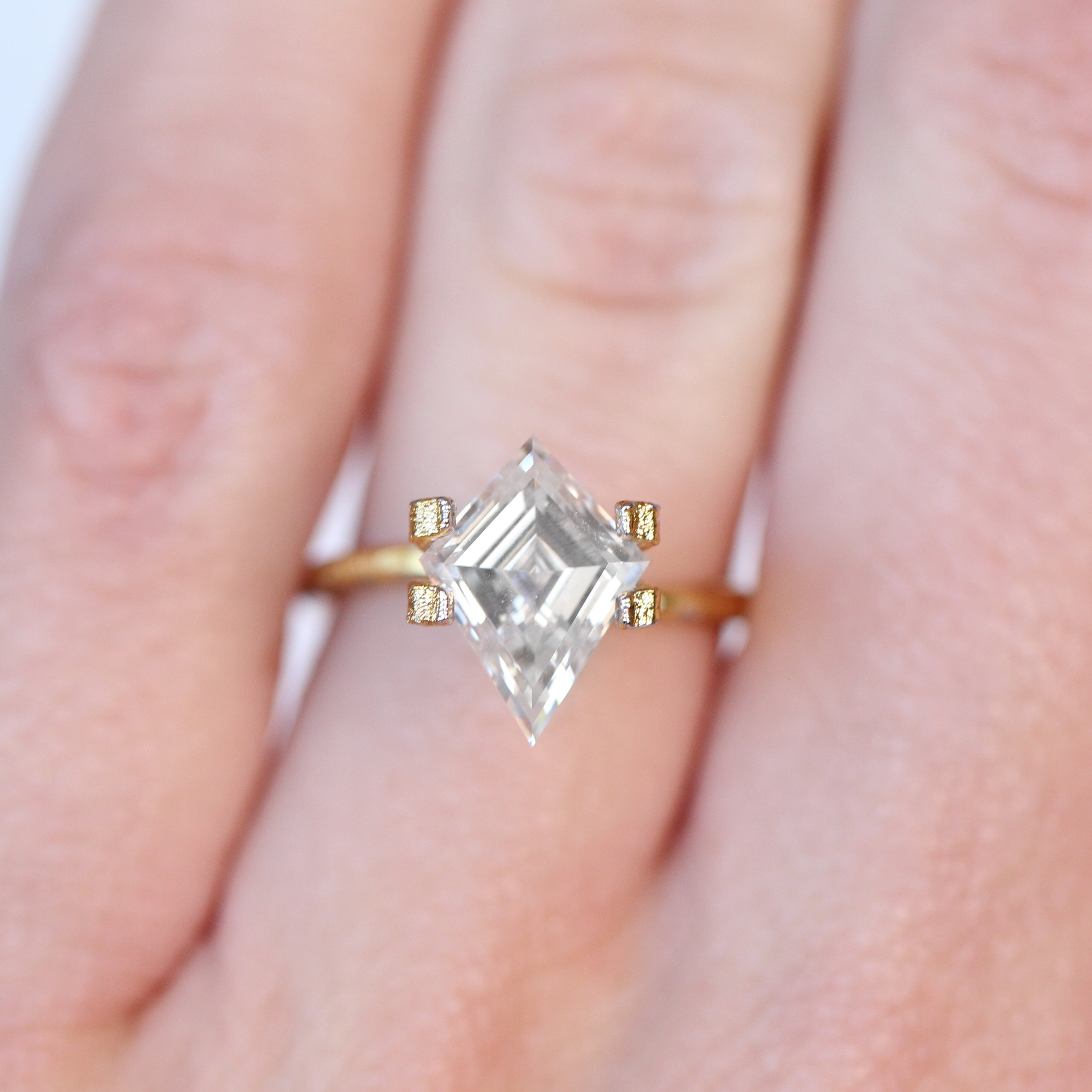 2.34 Carat Kite Moissanite- Inventory Code KBMOI234 - Celestial Diamonds ® by Midwinter Co.