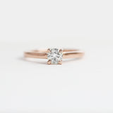 Enda - .35 carat clear diamond ring with hidden black diamonds in 14k rose gold - ready to size and ship