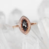 Kitt Ring with a Celestial Marquise Diamond in 10k Rose Gold - Ready to Size and Ship - Celestial Diamonds ® by Midwinter Co.
