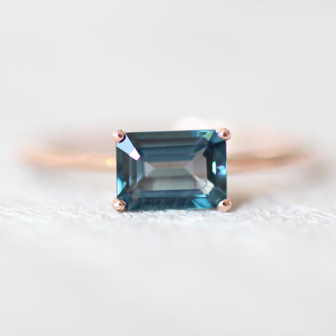 London Blue Topaz 1.3 carat Emerald Cut - Your choice of metal - Custom