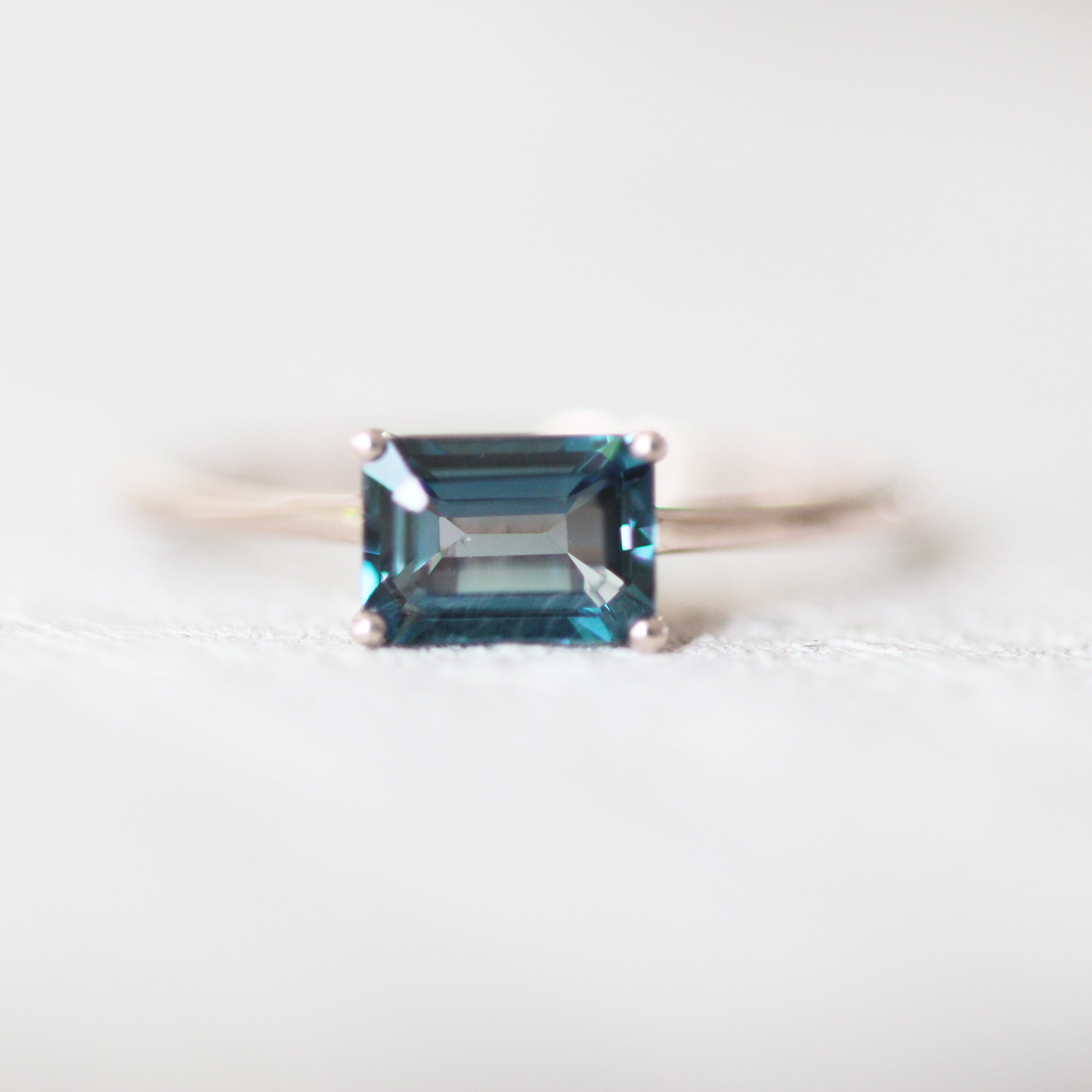 London Blue Topaz 1.3 carat Emerald Cut - Your choice of metal - Custom - Celestial Diamonds ® by Midwinter Co.