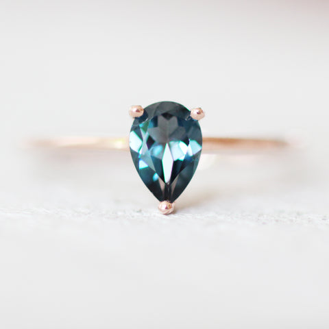 London Blue Topaz .85 carat Pear Cut - Your choice of metal - Custom