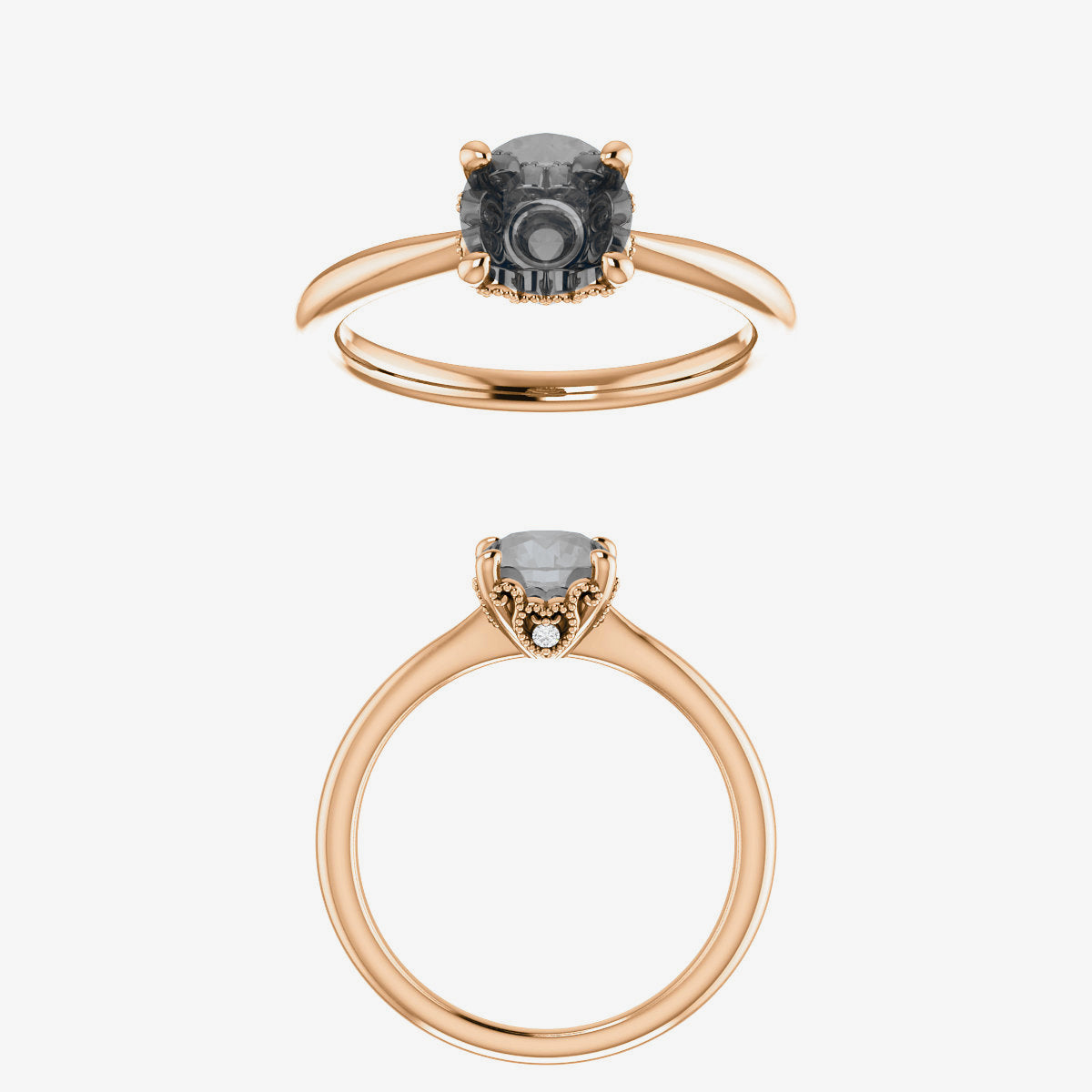Lark setting - Salt & Pepper Celestial Diamond Engagement Rings and Wedding Bands  by Midwinter Co.