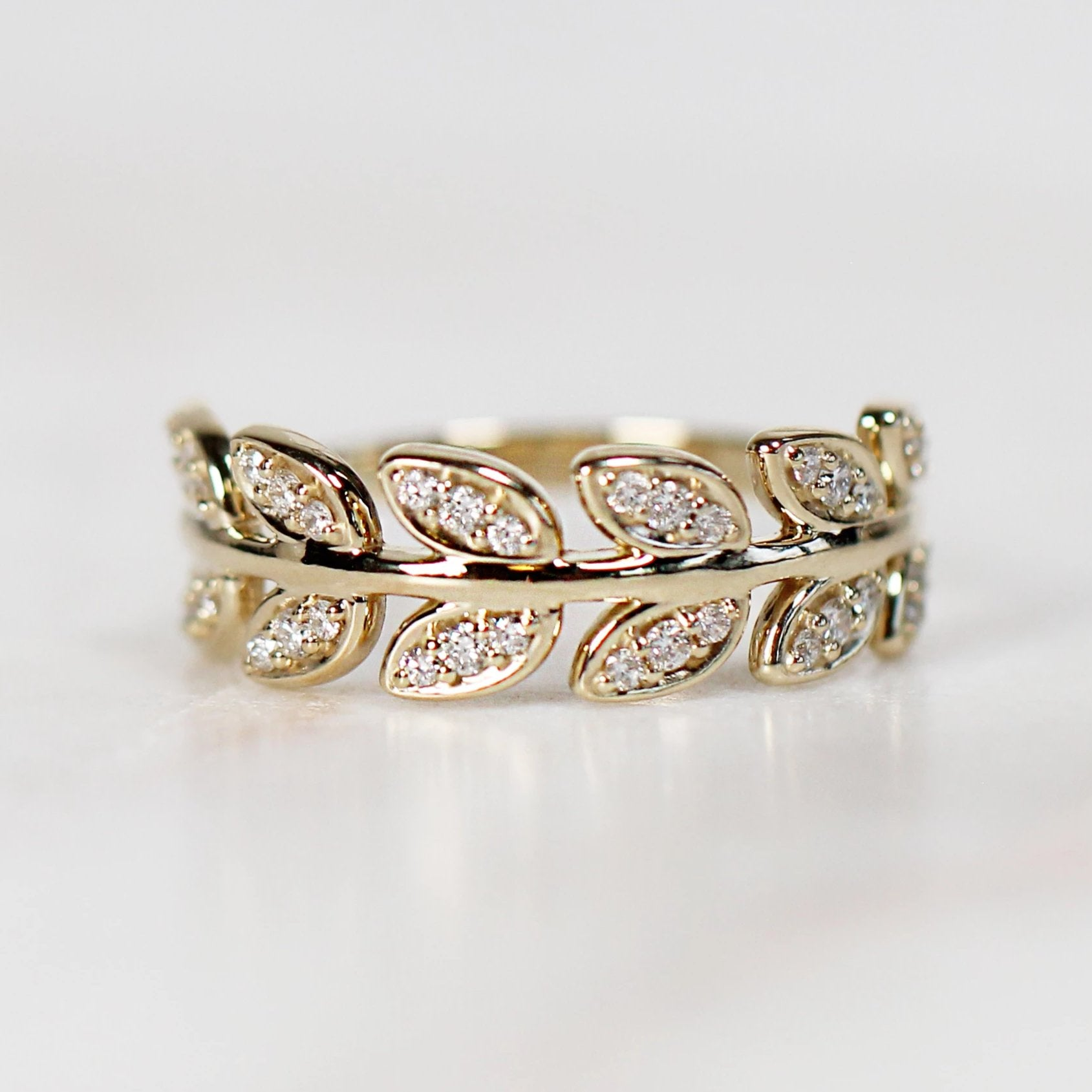 Flourish Diamond Band - Your Choice of 14k Gold - Celestial Diamonds ® by Midwinter Co.