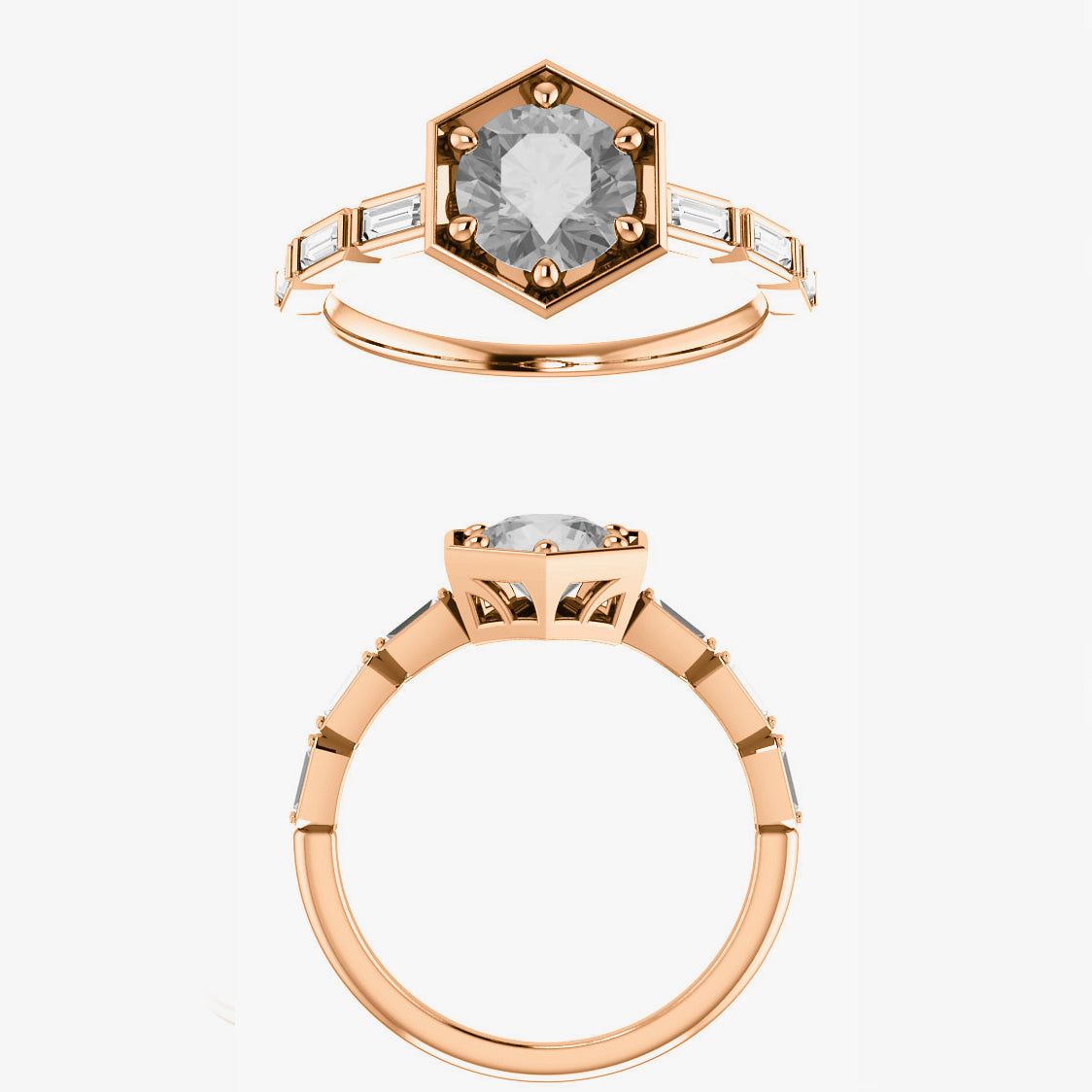 Lennen Setting - Celestial Diamonds ® by Midwinter Co.