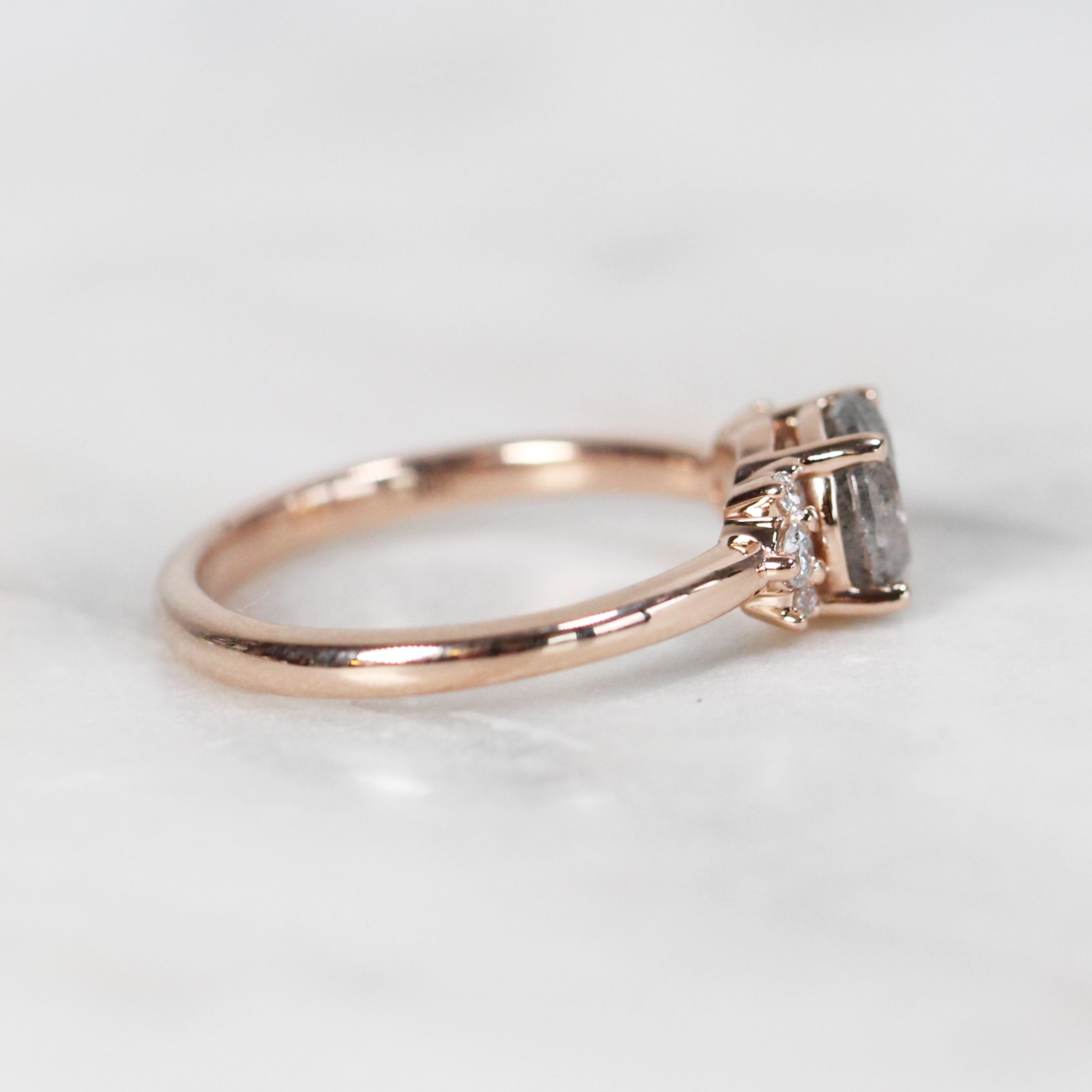 Loren Ring with 1.19ct Brilliant Round Celestial Diamond in 10k Rose Gold- Ready to Size and Ship - Celestial Diamonds ® by Midwinter Co.