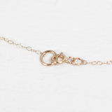 Antique Love Token Necklace with 14k Yellow Gold Chain - Engraved with J / I C