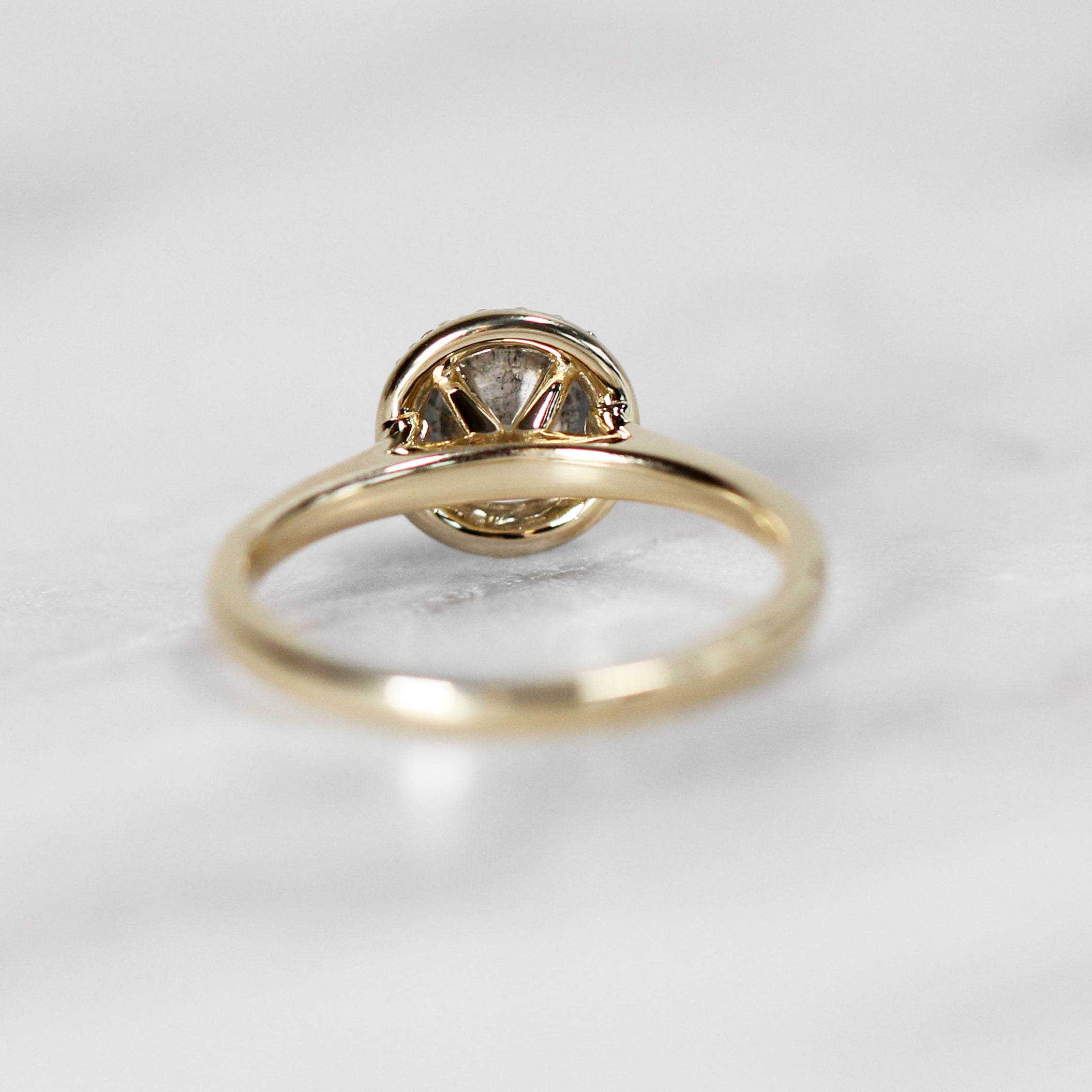 Lydia Ring with .77ct Brilliant Round Celestial Diamond® in 10k Yellow Gold - Ready to size and ship - Celestial Diamonds ® by Midwinter Co.