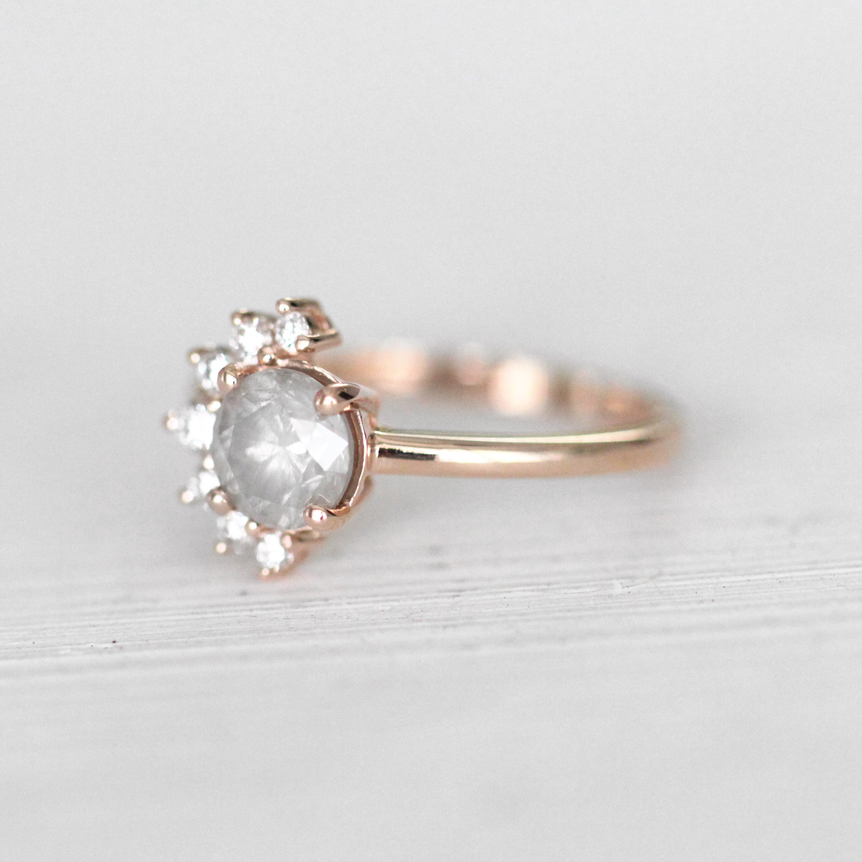 Drew Ring with a 1.09ct Celestial Diamond® in 10k Rose Gold - Ready to Size and Ship - Celestial Diamonds ® by Midwinter Co.