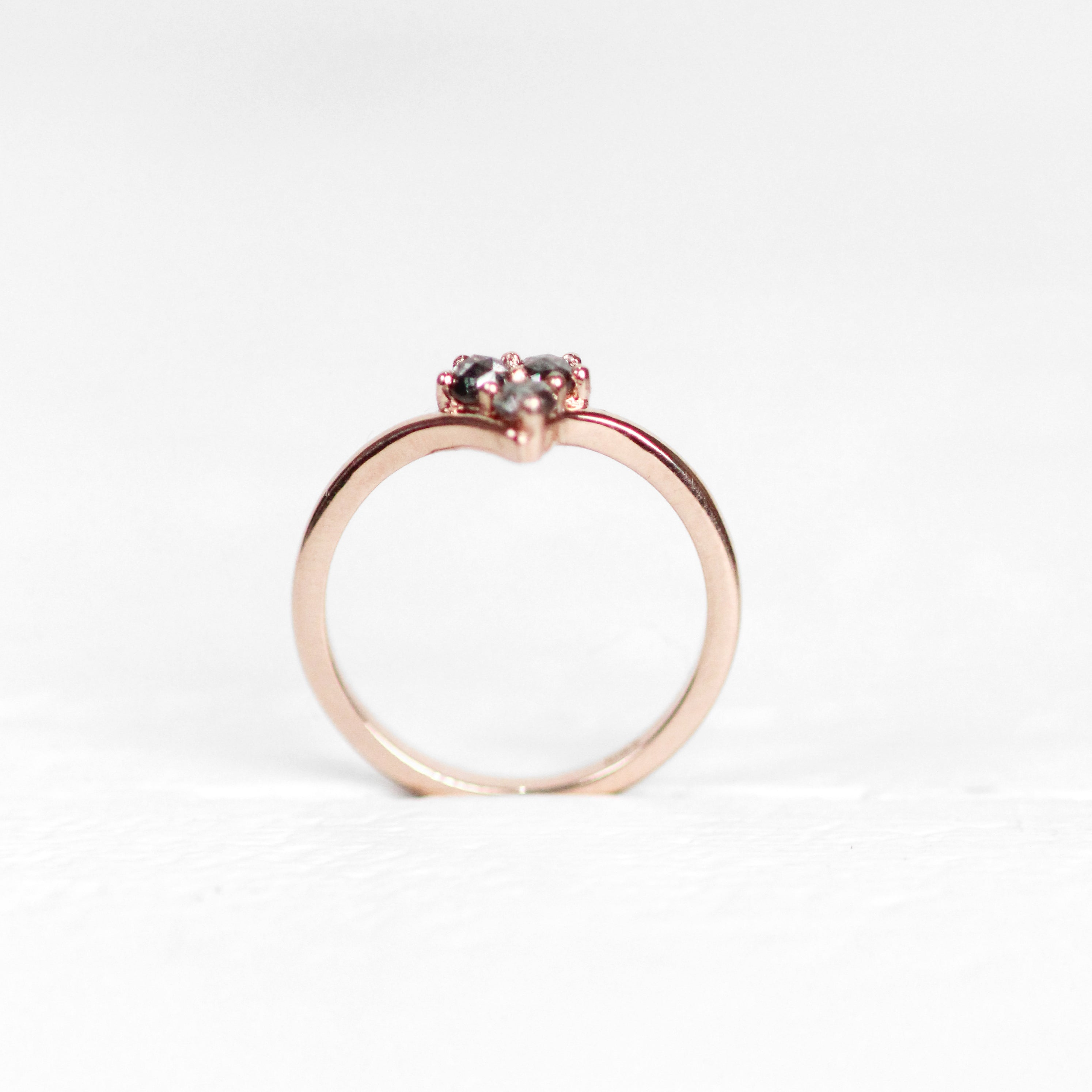 Madelyn Ring - Trio of Rose Cut Diamonds - Gold of choice - Celestial Diamonds ® by Midwinter Co.