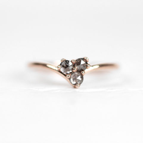 Madelyn Ring - Trio of Rose Cut Diamonds - Gold of choice