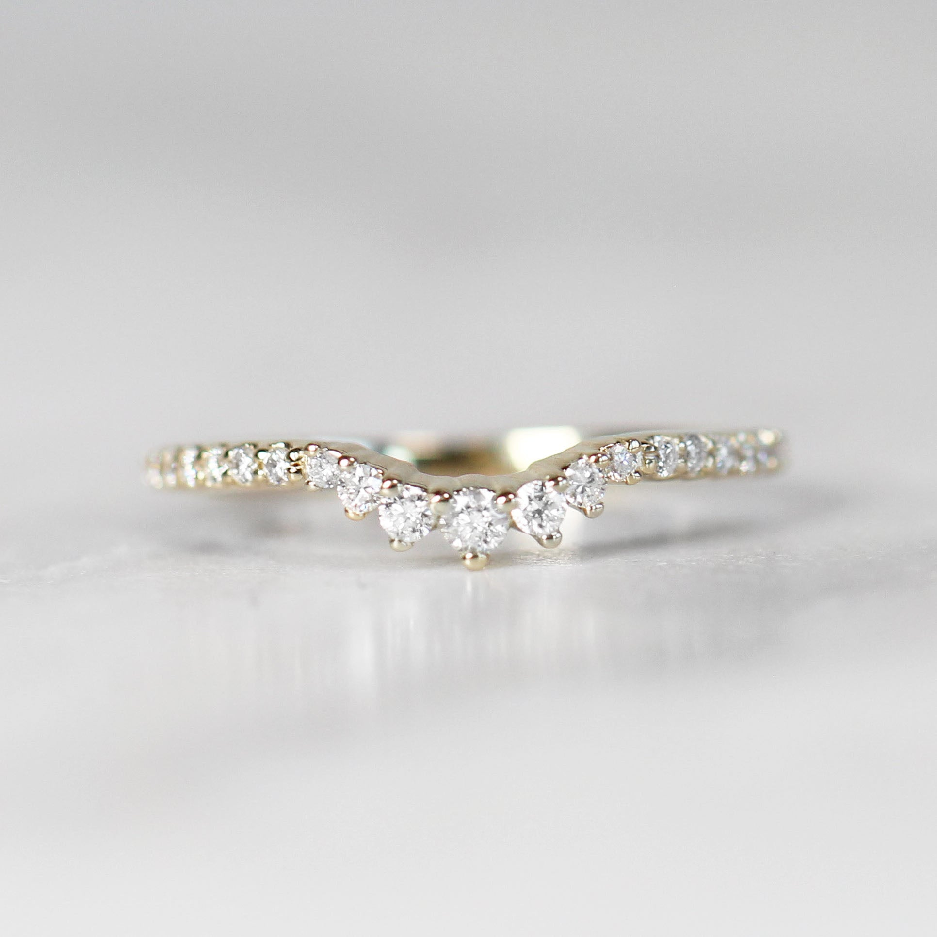 Maureen - Custom Designed Curved Diamond Wedding Stacking Band - Made to order - Celestial Diamonds ® by Midwinter Co.