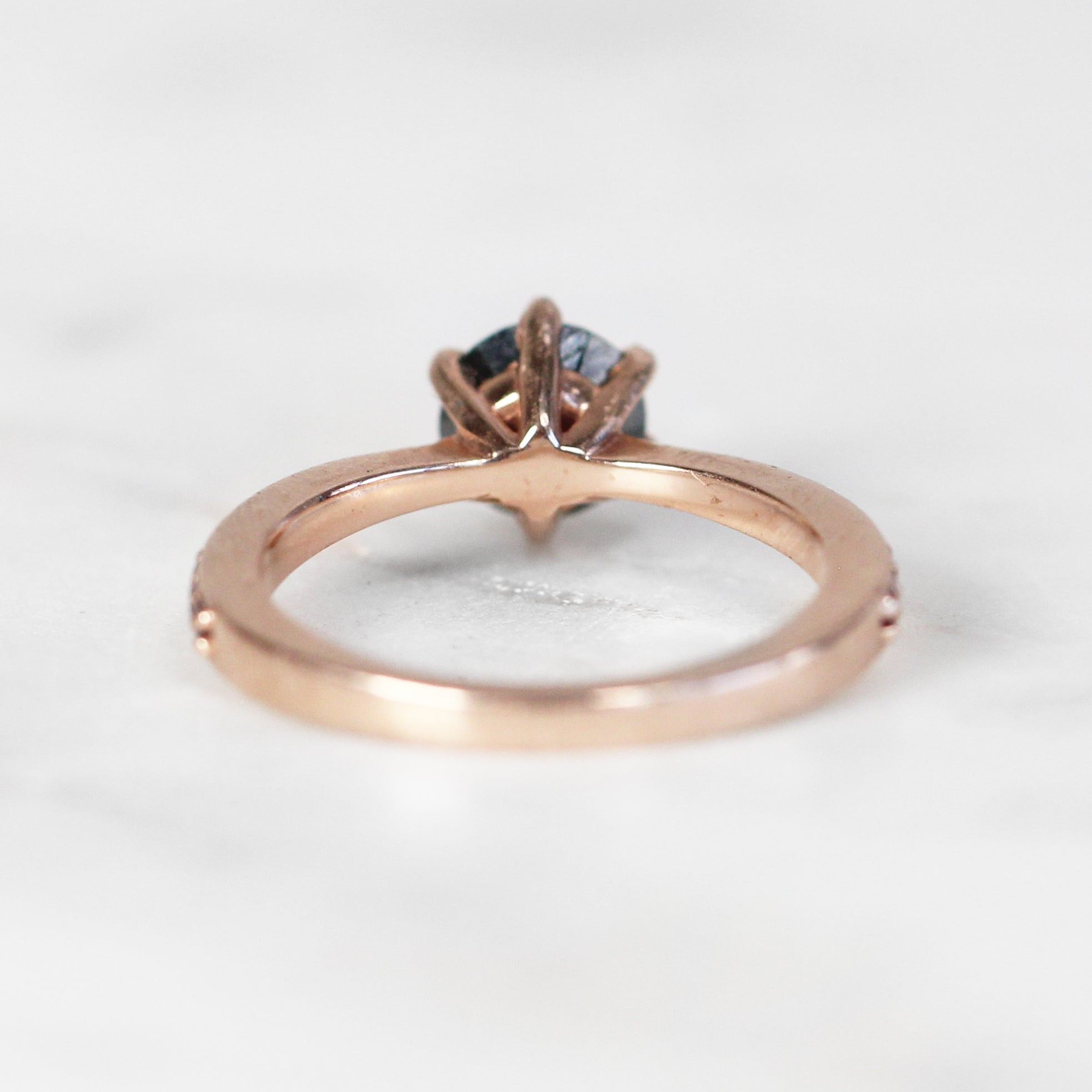 Maxine Ring with .70ct Moissanite in 10k Rose Gold - Custom - Celestial Diamonds ® by Midwinter Co.