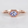 Melissa Ring with a .27 Carat Oval Tanzanite in 10k Rose Gold - Ready to Size and Ship - Midwinter Co. Alternative Bridal Rings and Modern Fine Jewelry