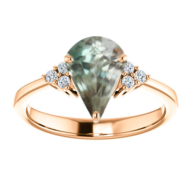 1.34ct Oregon Sunstone for Custom Work - Inventory Code SUN134 - Salt & Pepper Celestial Diamond Engagement Rings and Wedding Bands  by Midwinter Co.