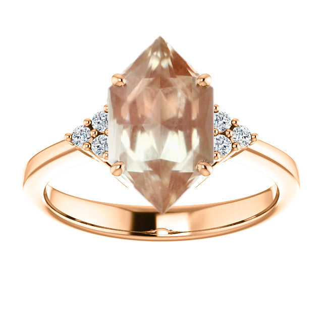 2.52ct Oregon Sunstone for Custom Work - Inventory Code SUN252 - Salt & Pepper Celestial Diamond Engagement Rings and Wedding Bands  by Midwinter Co.