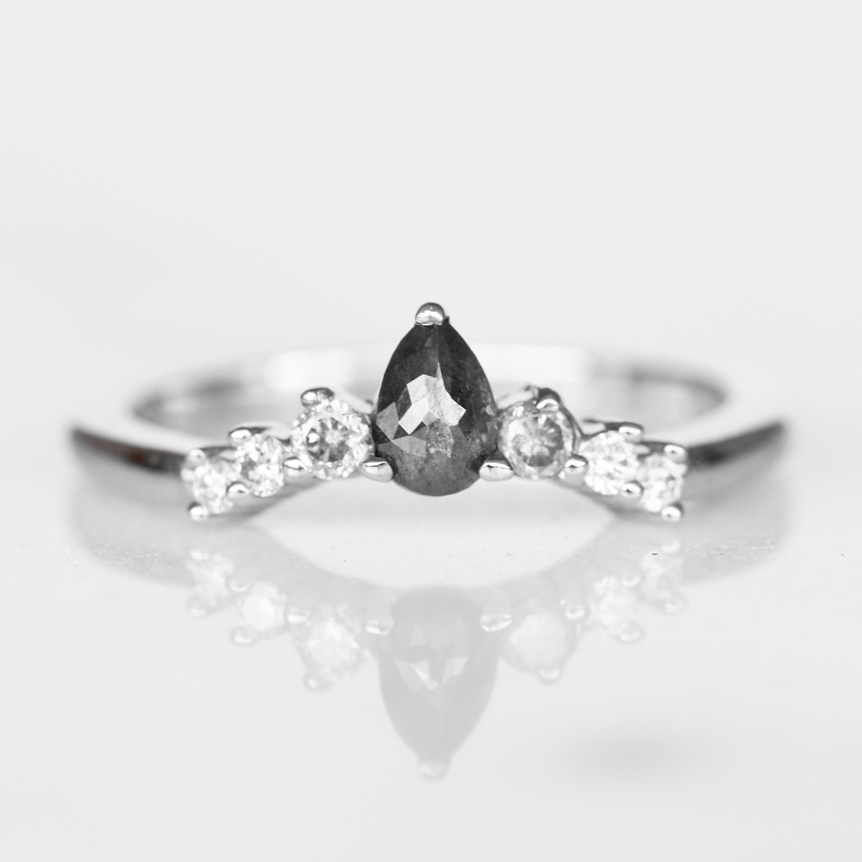 Moira - Ombre Contoured Diamond Wedding Stacking Band - made to order - Celestial Diamonds ® by Midwinter Co.