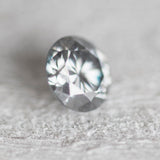 1.2 carat gray moissanite - lab grown clear gem - code Moi12