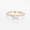 Raine Ring with Morganite and Diamond Accents in 14k Yellow Gold - Ready to Size and Ship