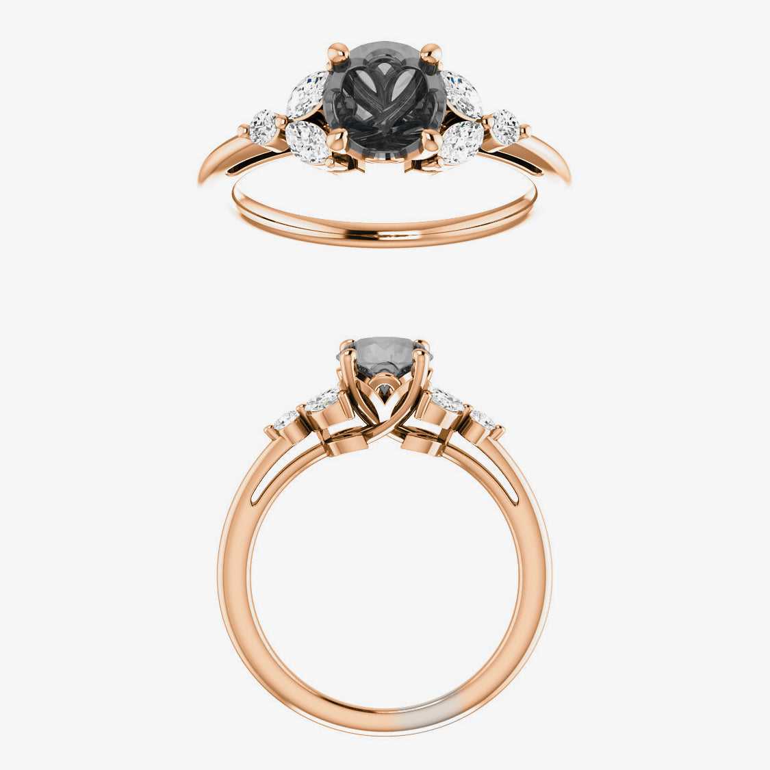 Andia Setting - Celestial Diamonds ® by Midwinter Co.