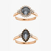 Nanette Setting - Salt & Pepper Celestial Diamond Engagement Rings and Wedding Bands  by Midwinter Co.