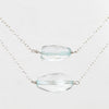 Aquamarine Necklace with 14k Yellow Gold Fill or Sterling Silver Chain - Celestial Diamonds ® by Midwinter Co.