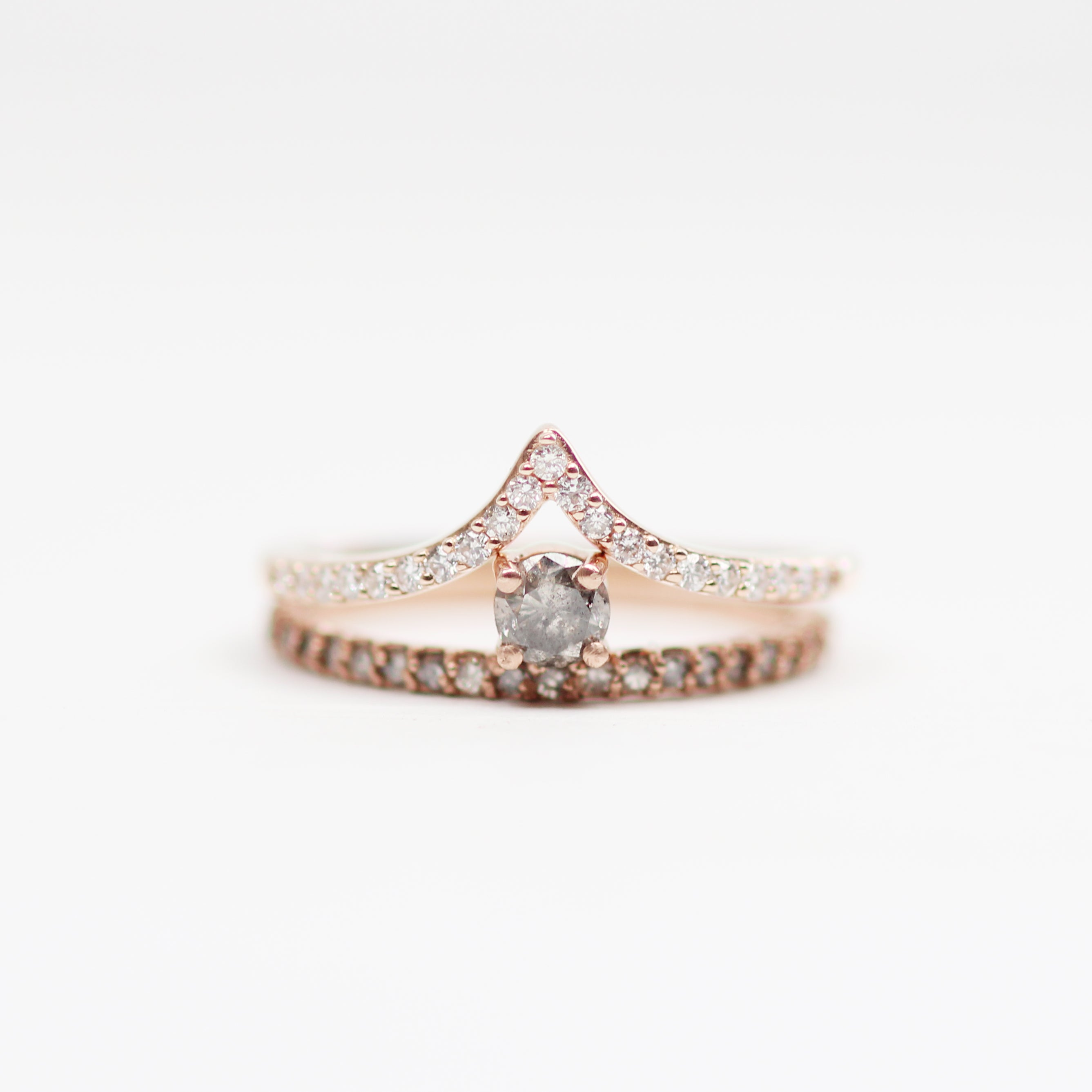 Gray Nellie Minimal Ring - Asymmetrical Diamond Band Ring in Gold - Celestial Diamonds ® by Midwinter Co.