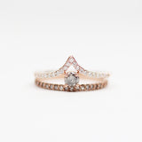 Nellie - Diamonds in Gray & Black 10k Rose Gold  Ring - Ready to ship in size 7