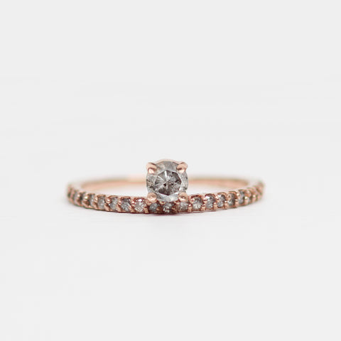 Gray Nellie Minimal Ring - Asymmetrical Diamond Band Ring in Gold