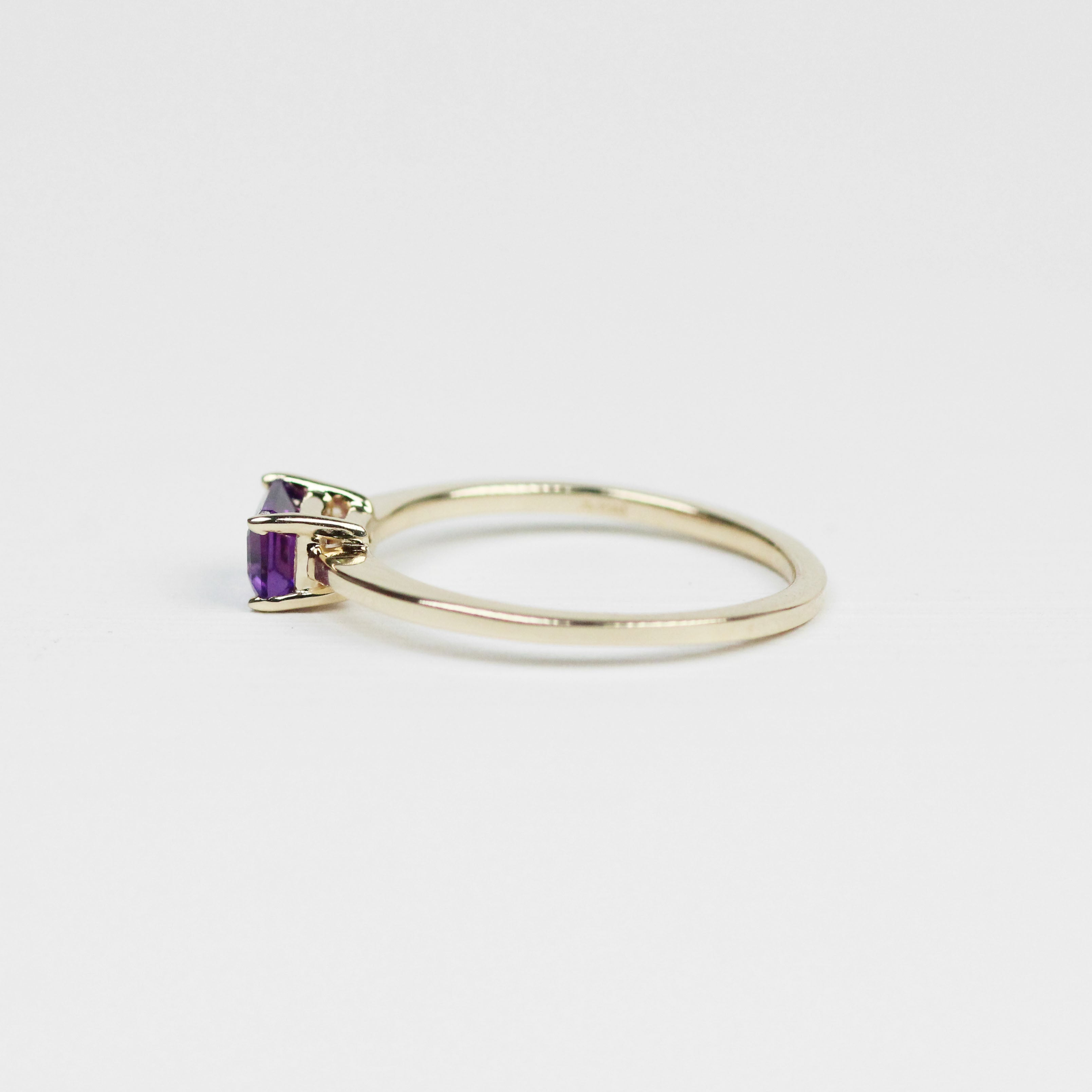 Ruthie Ring with Purple Amethyst - Your choice of metal - Custom