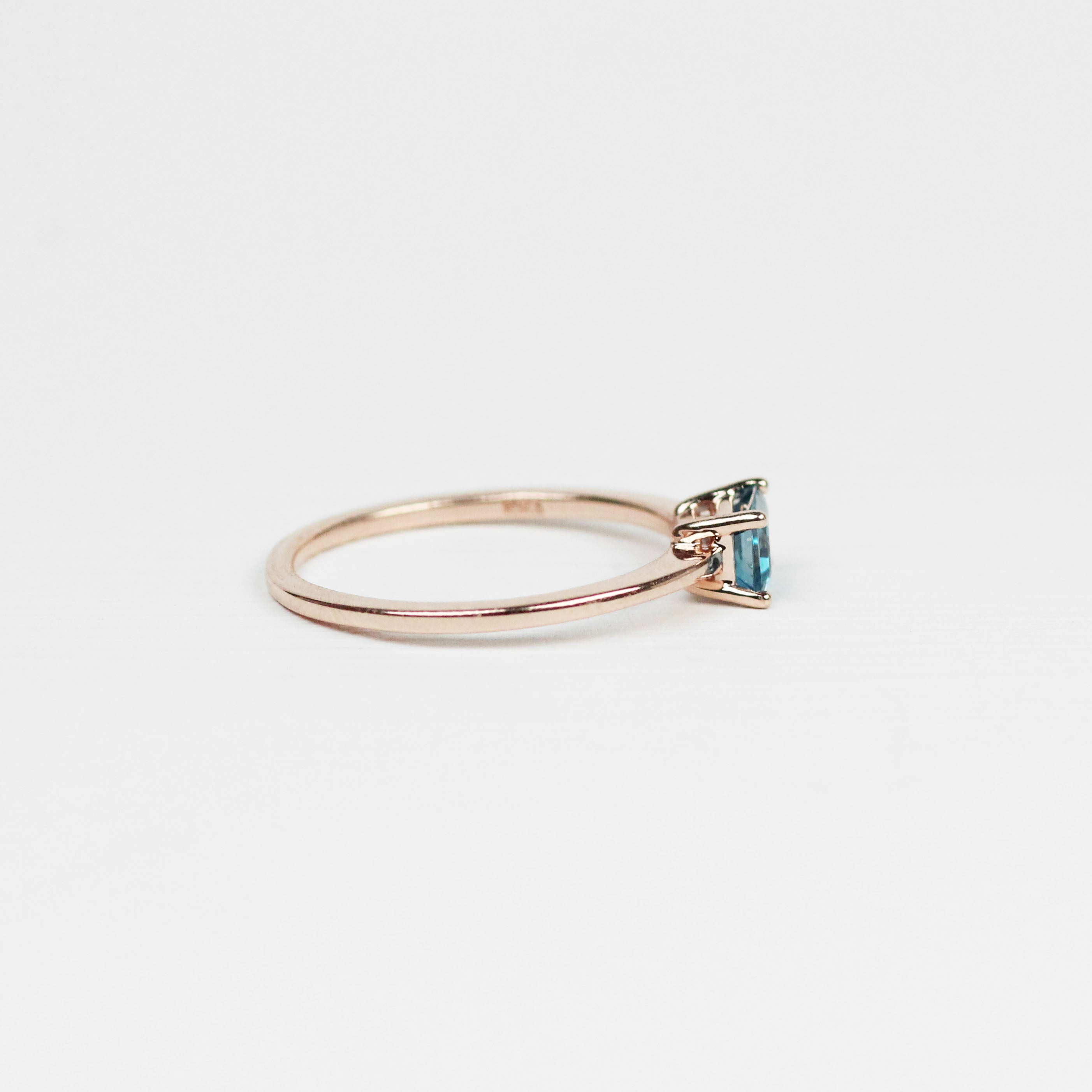 Ruthie Ring with London Blue Topaz - Your choice of metal - Custom - Celestial Diamonds ® by Midwinter Co.