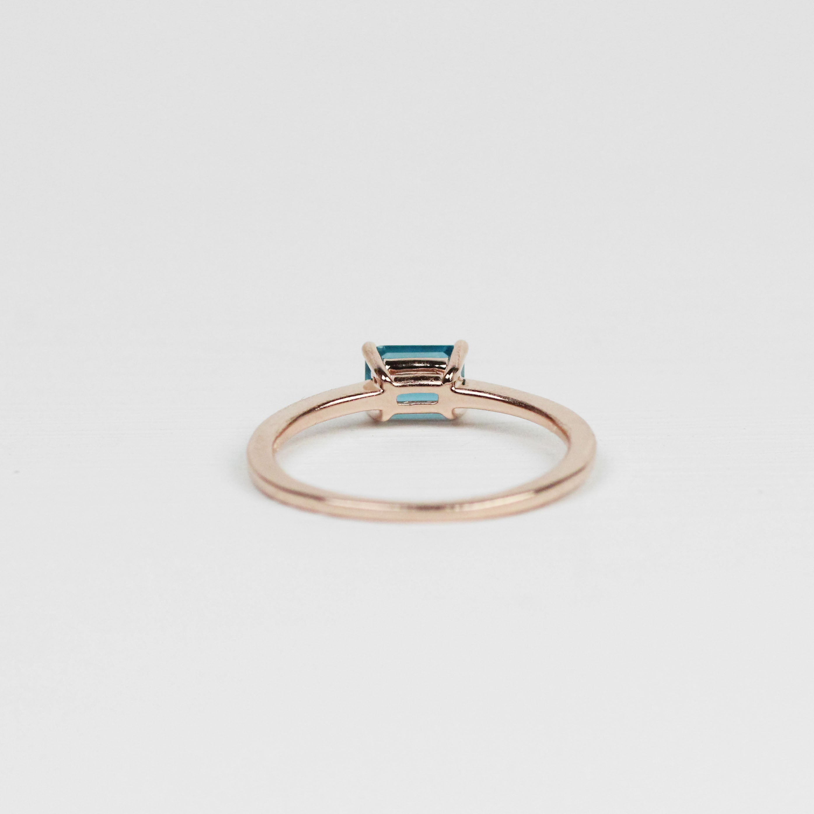 Ruthie Ring with London Blue Topaz - Your choice of metal - Custom