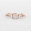 Nolen Ring with a White Misty Diamond and White Sapphires in 14k Rose Gold - Ready to Size and Ship