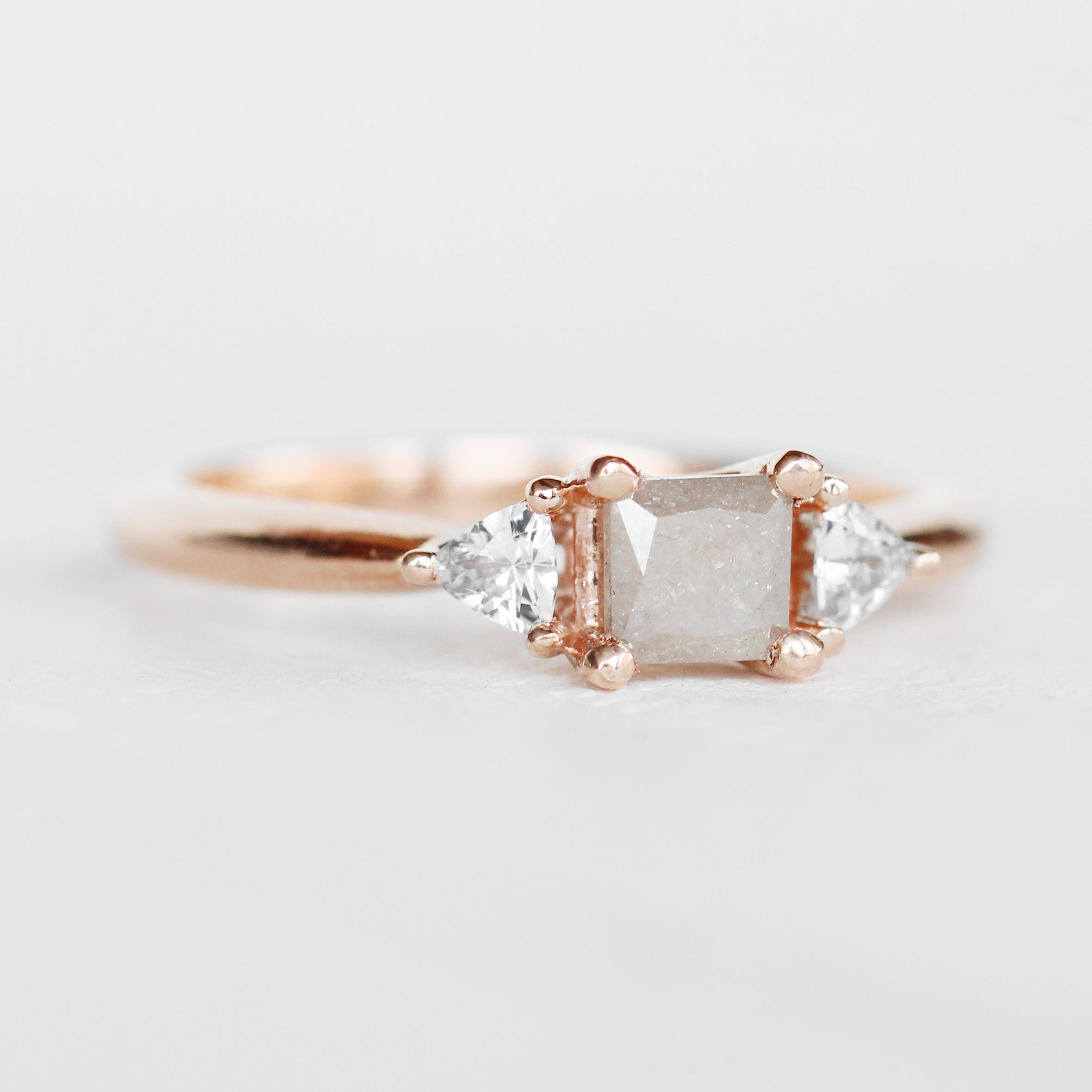Nolen setting - Salt & Pepper Celestial Diamond Engagement Rings and Wedding Bands  by Midwinter Co.