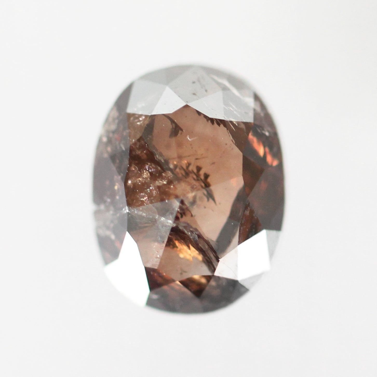 1.86ct Rose Cut Oval Celestial Diamond® for Custom Work - Inventory Code ORD186 - Celestial Diamonds ® by Midwinter Co.