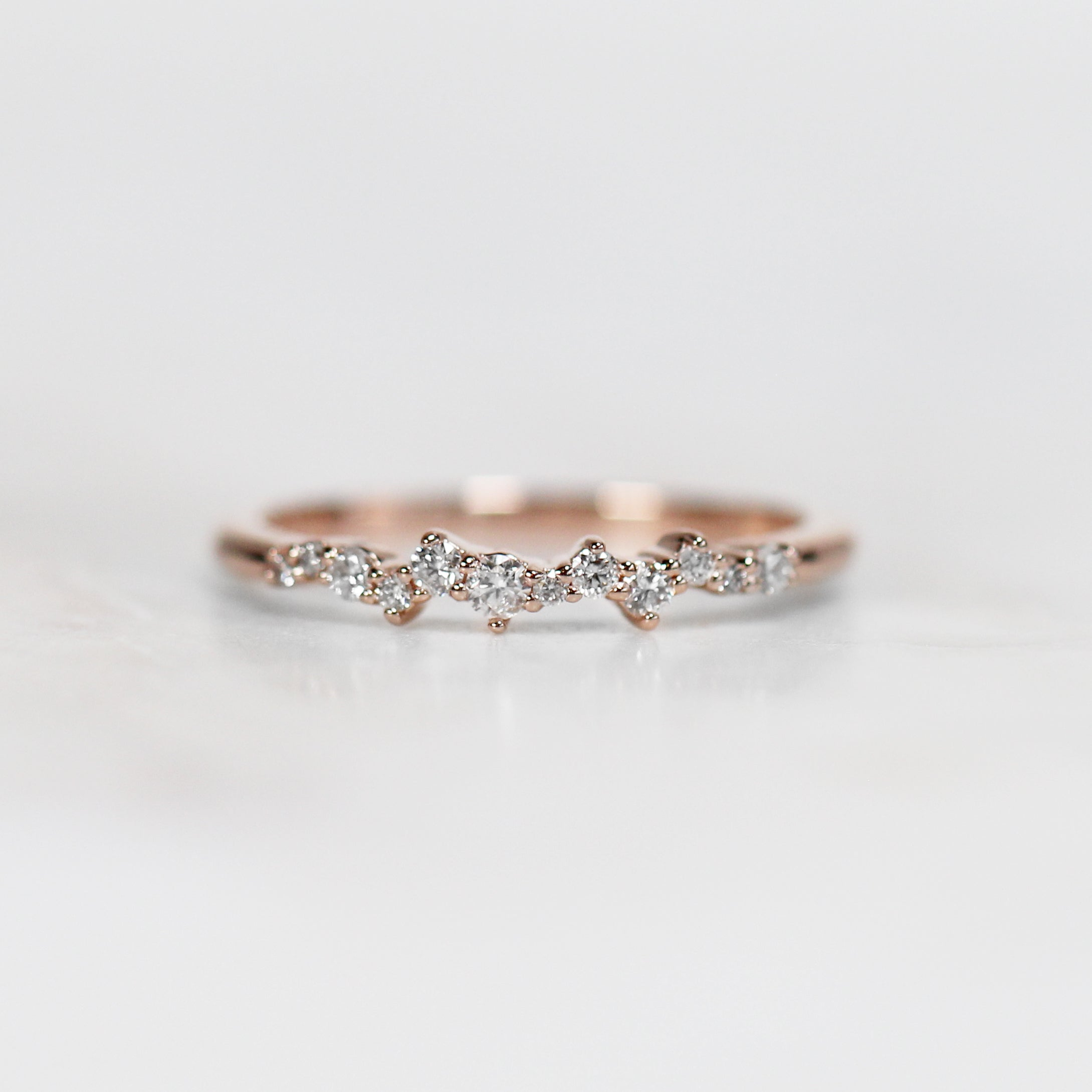 Oaklynn Diamond Wedding Stacking Cluster Band - Midwinter Co. Alternative Bridal Rings and Modern Fine Jewelry
