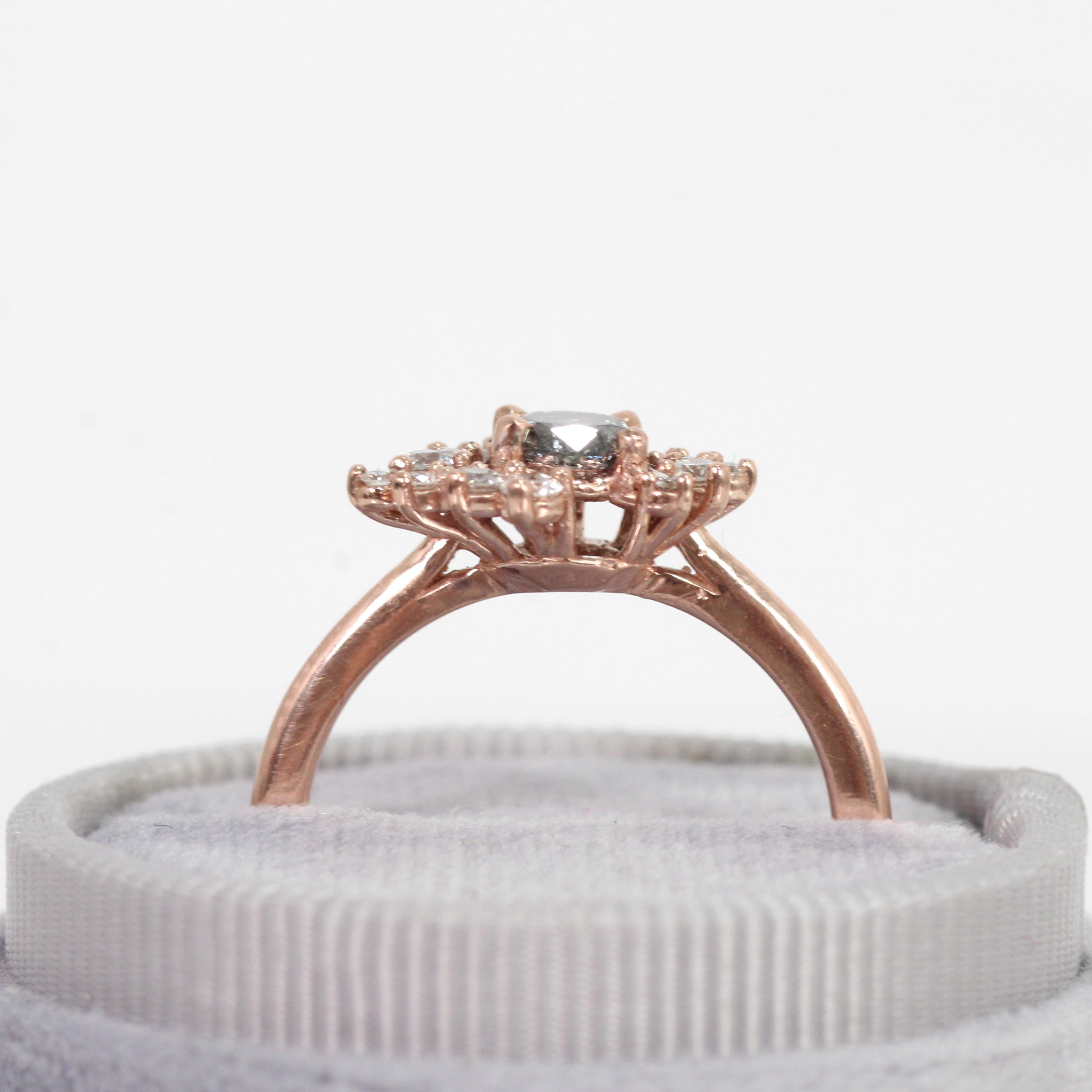 Orion Ring with Celestial Diamond in 10k Rose Gold - Ready to Size and Ship