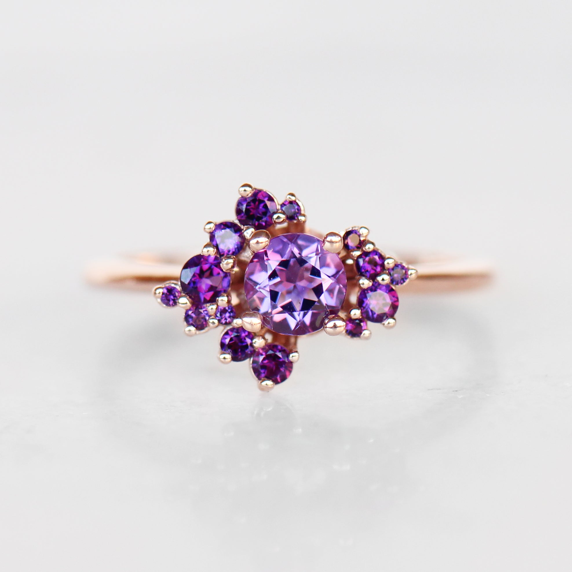 Orion Ring in all Amethyst - Cluster ring - Celestial Diamonds ® by Midwinter Co.