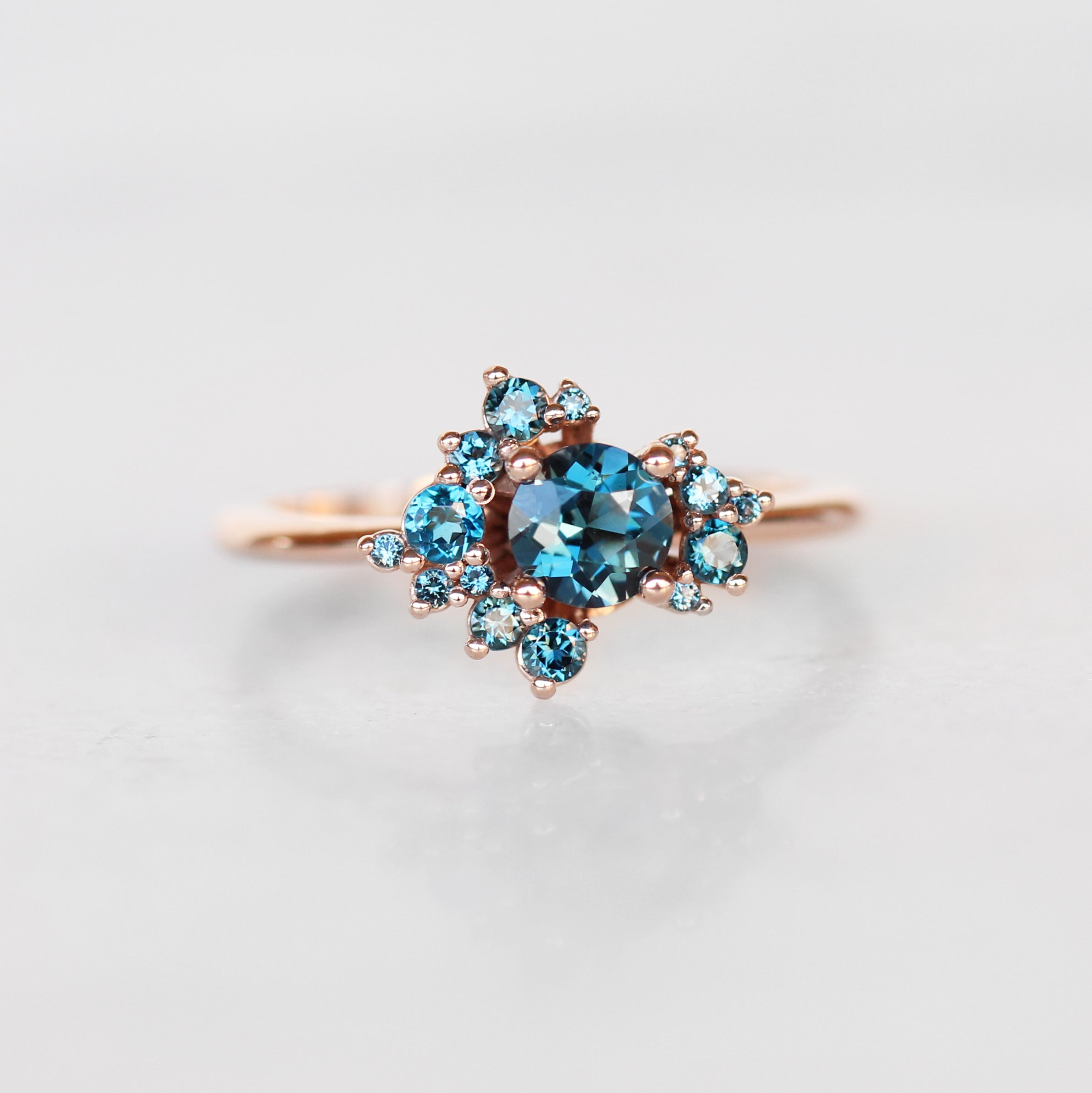 Orion Ring with all London Blue Topaz - Cluster ring - Celestial Diamonds ® by Midwinter Co.