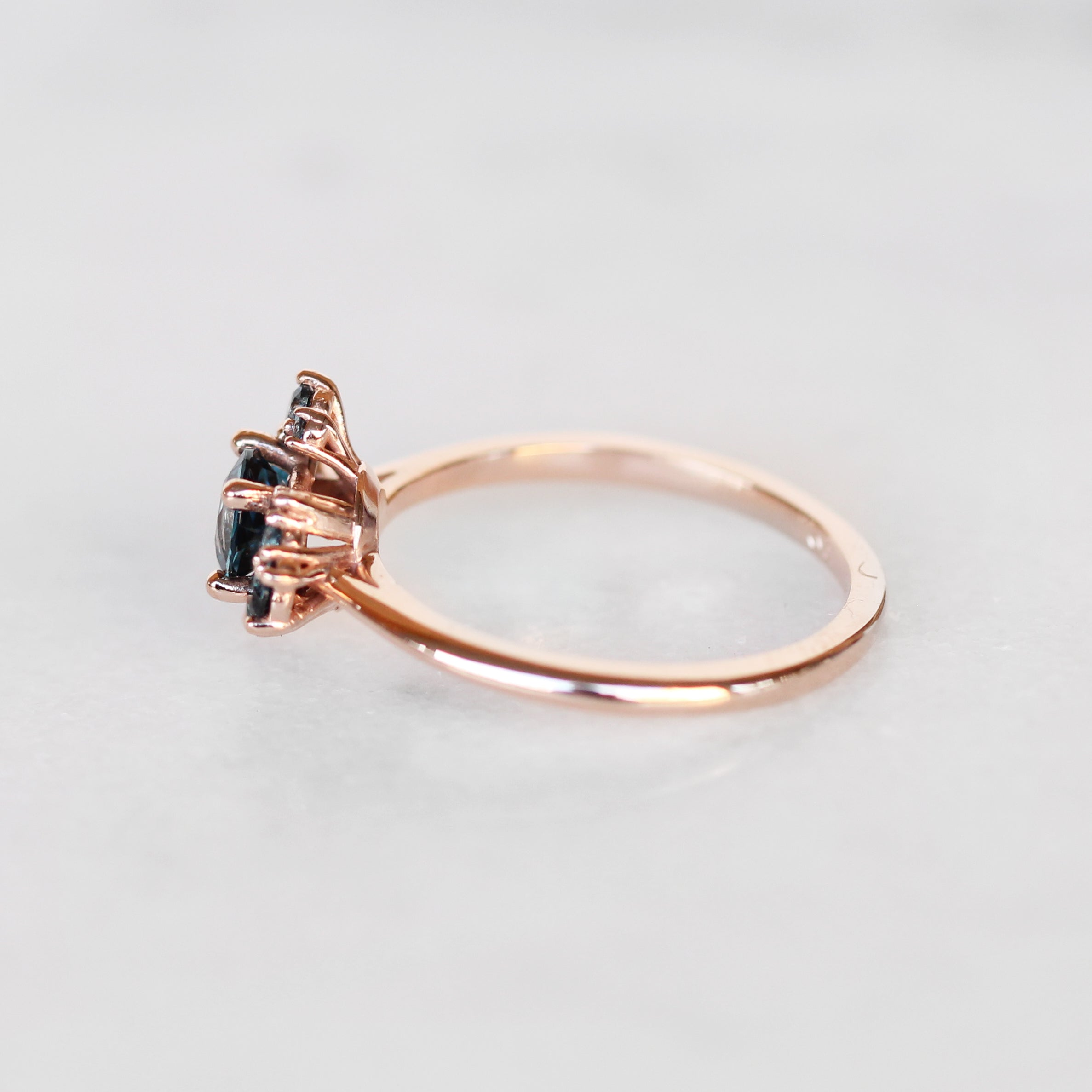 Orion Ring with all London Blue Topaz in 10k Rose Gold - Ready to Size and Ship - Celestial Diamonds ® by Midwinter Co.