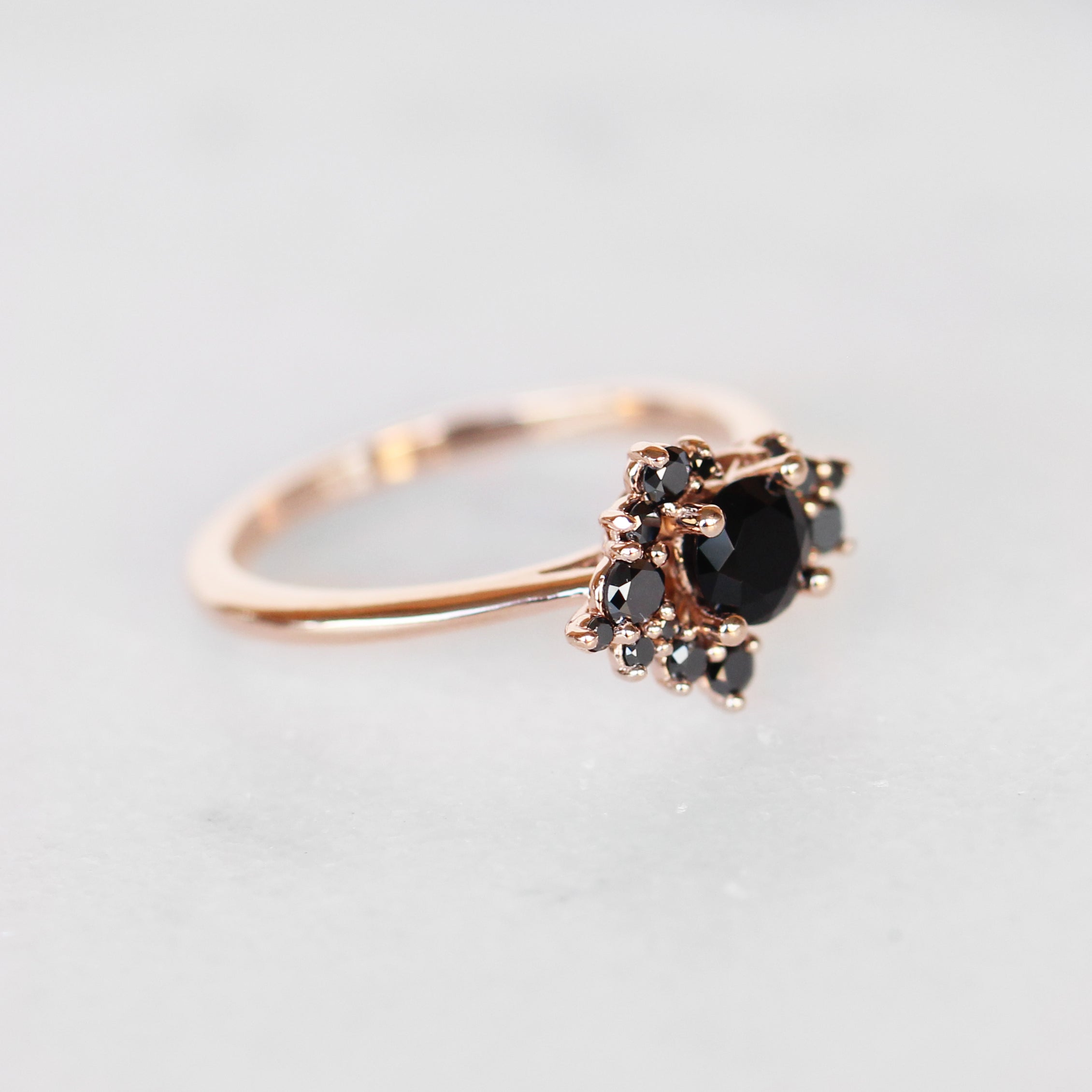 Orion Ring with All Black Diamonds - Cluster ring - Salt & Pepper Celestial Diamond Engagement Rings and Wedding Bands  by Midwinter Co.