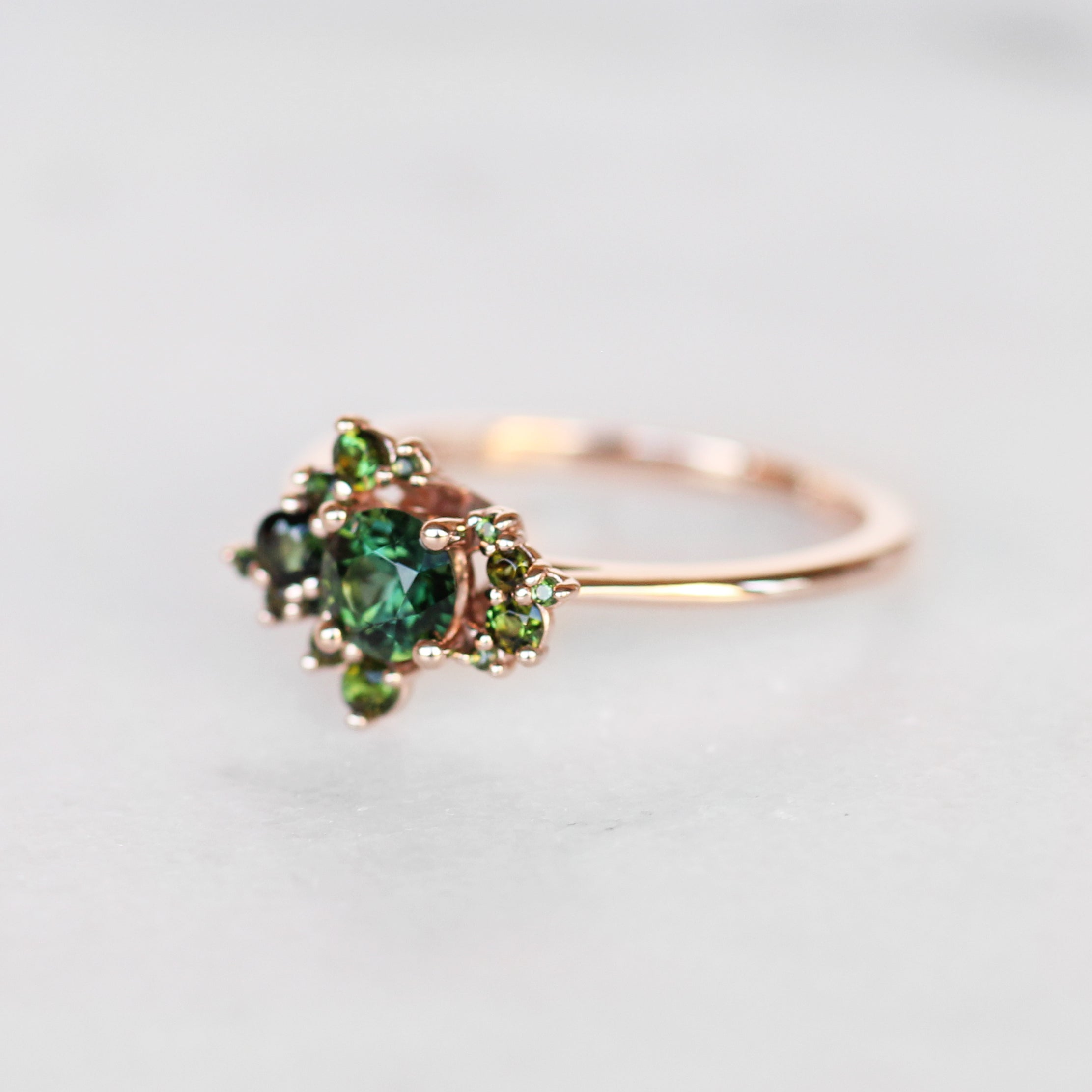Orion Ring with all Tourmaline - Cluster ring - Salt & Pepper Celestial Diamond Engagement Rings and Wedding Bands  by Midwinter Co.