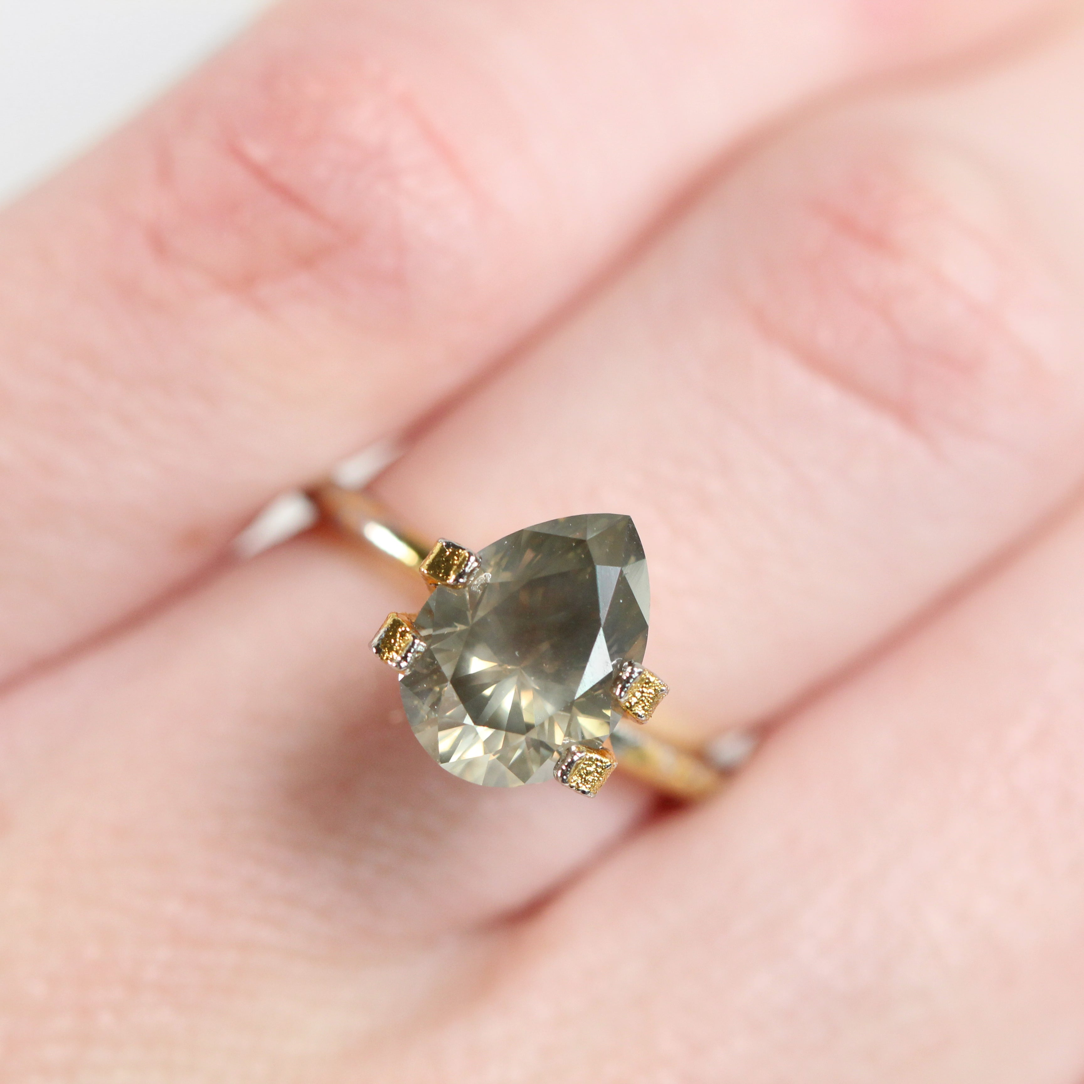 2.54 Carat IGL Certified Pear Celestial Diamond for Custom Work - Inventory Code PBCH254 - Midwinter Co. Alternative Bridal Rings and Modern Fine Jewelry