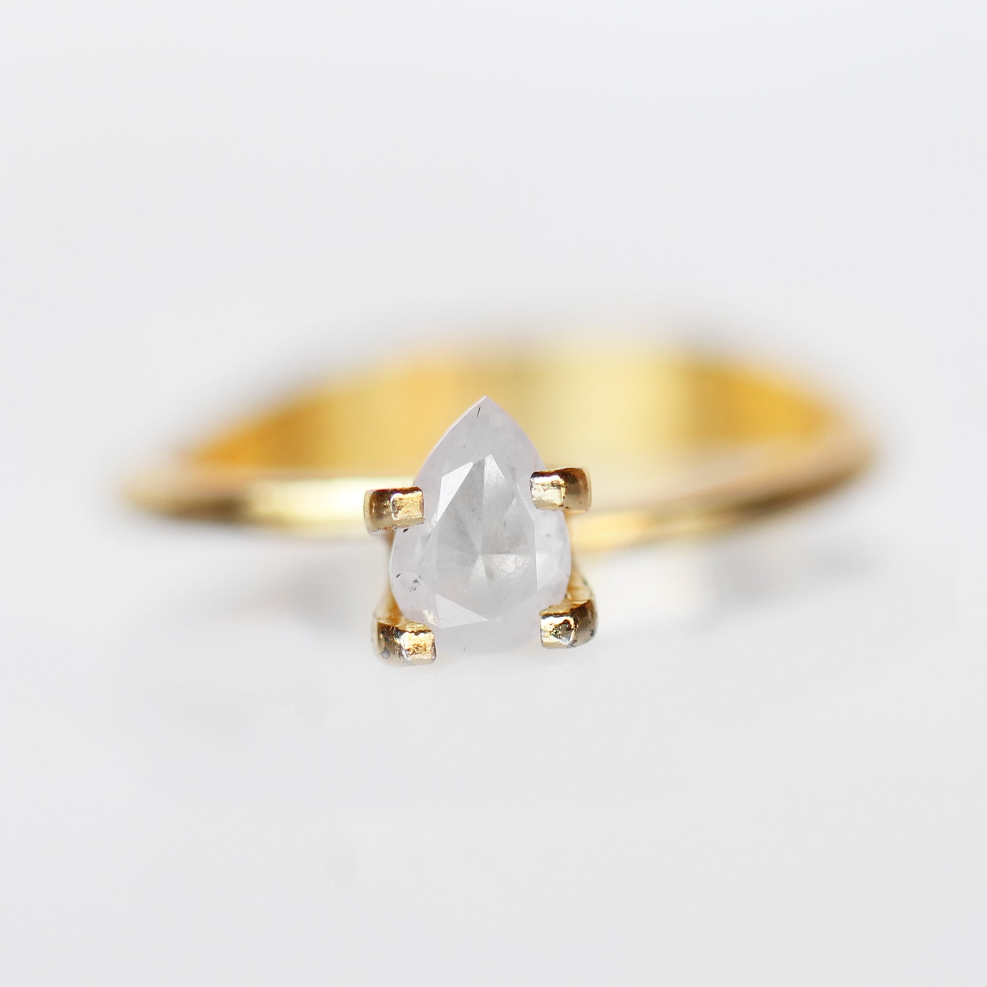 .72 Carat Pear Celestial Diamond-Inventory Code PBWC72 - Salt & Pepper Celestial Diamond Engagement Rings and Wedding Bands  by Midwinter Co.